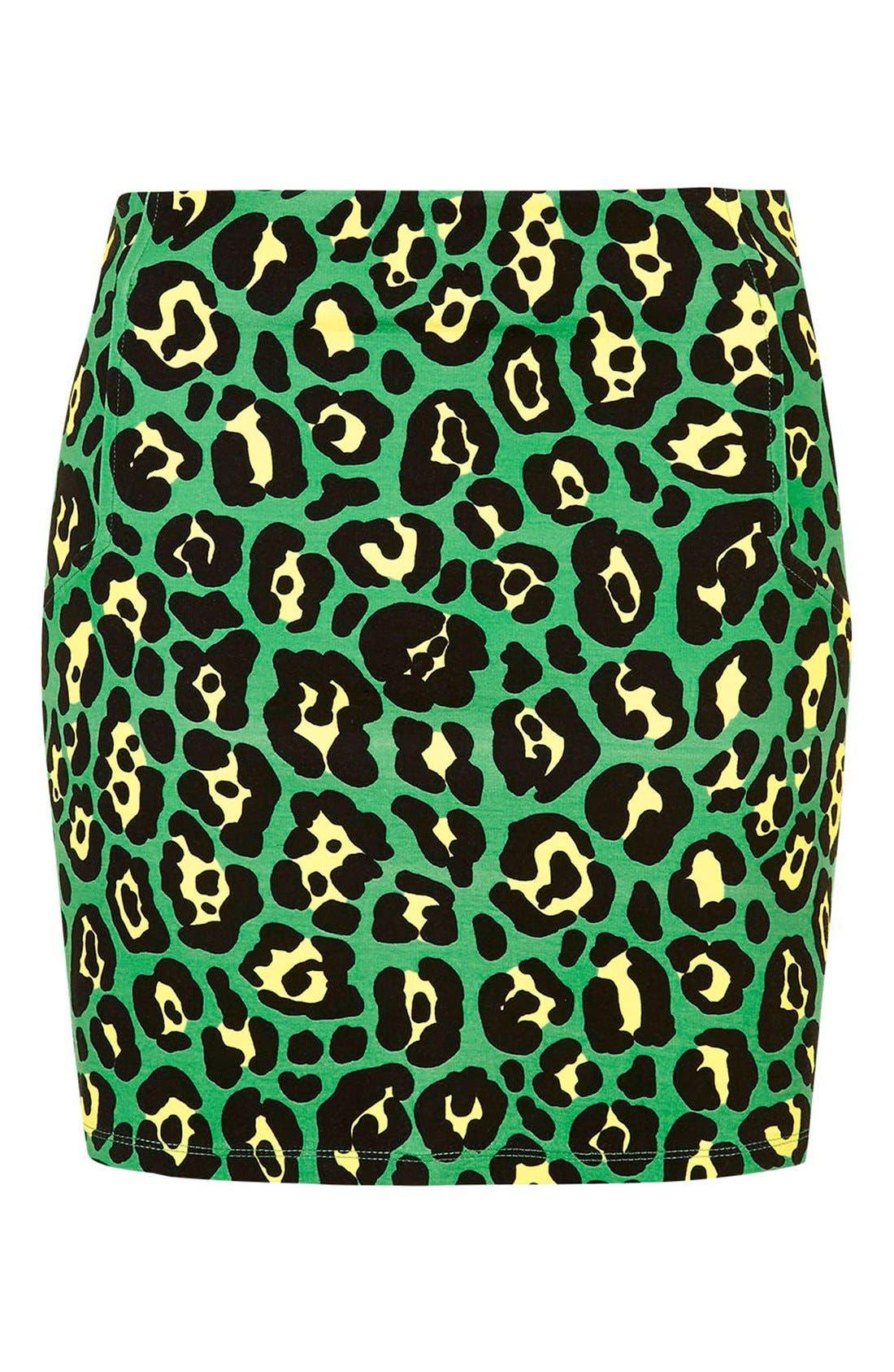 Alternate Image 4  - Topshop 'Rio' Leopard Print Miniskirt