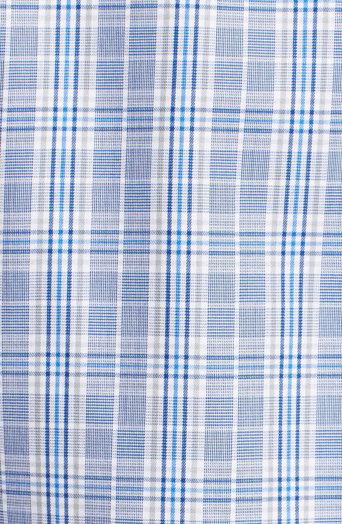 Alternate Image 5  - Peter Millar Regular Fit Glen Plaid Sport Shirt