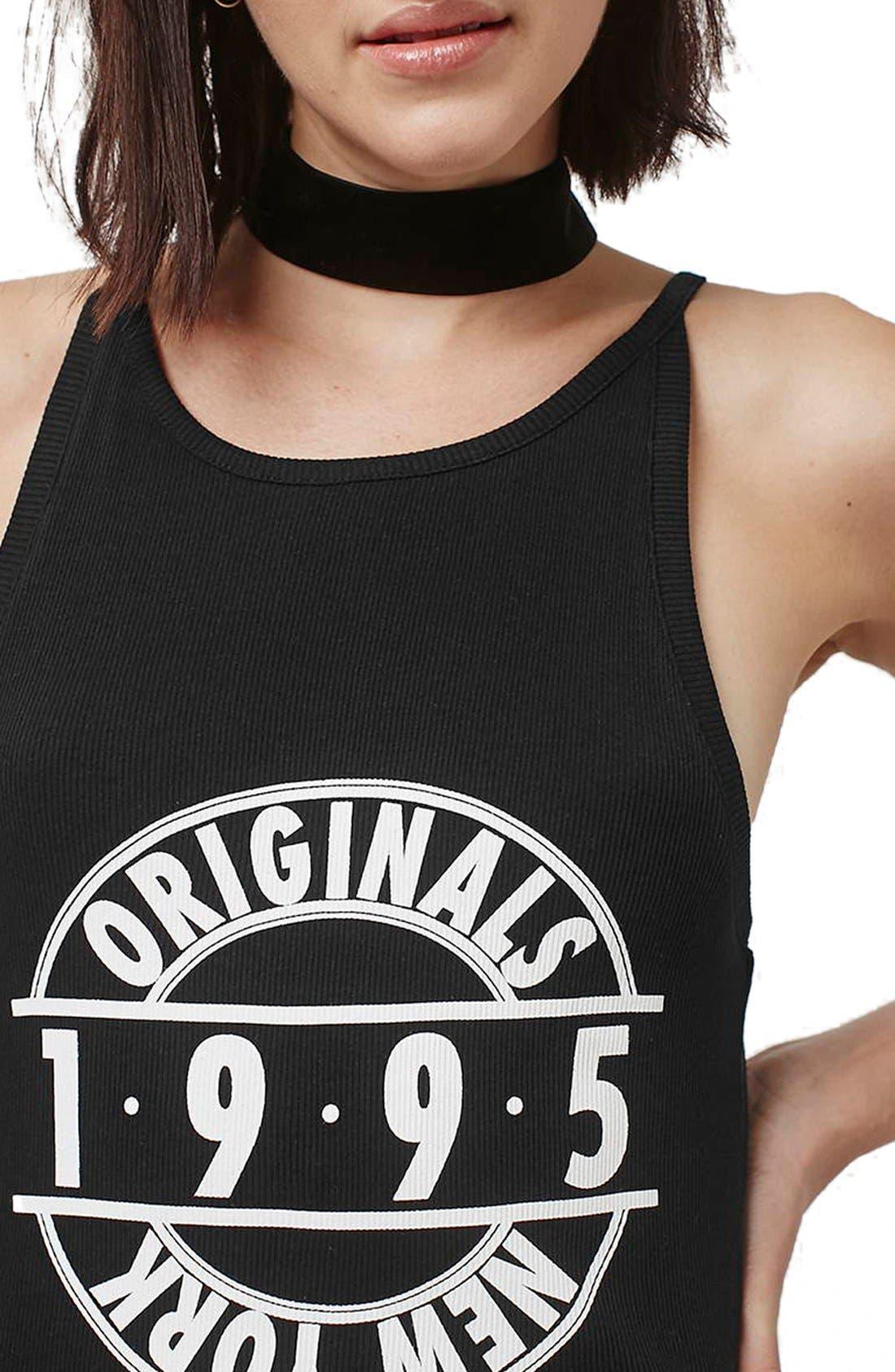 Alternate Image 5  - Topshop '1995 Originals' Ribbed Body-Con Dress