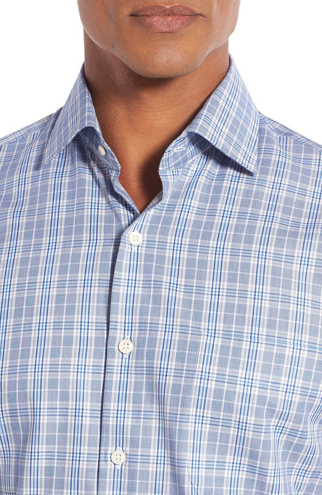 Alternate Image 4  - Peter Millar Regular Fit Glen Plaid Sport Shirt