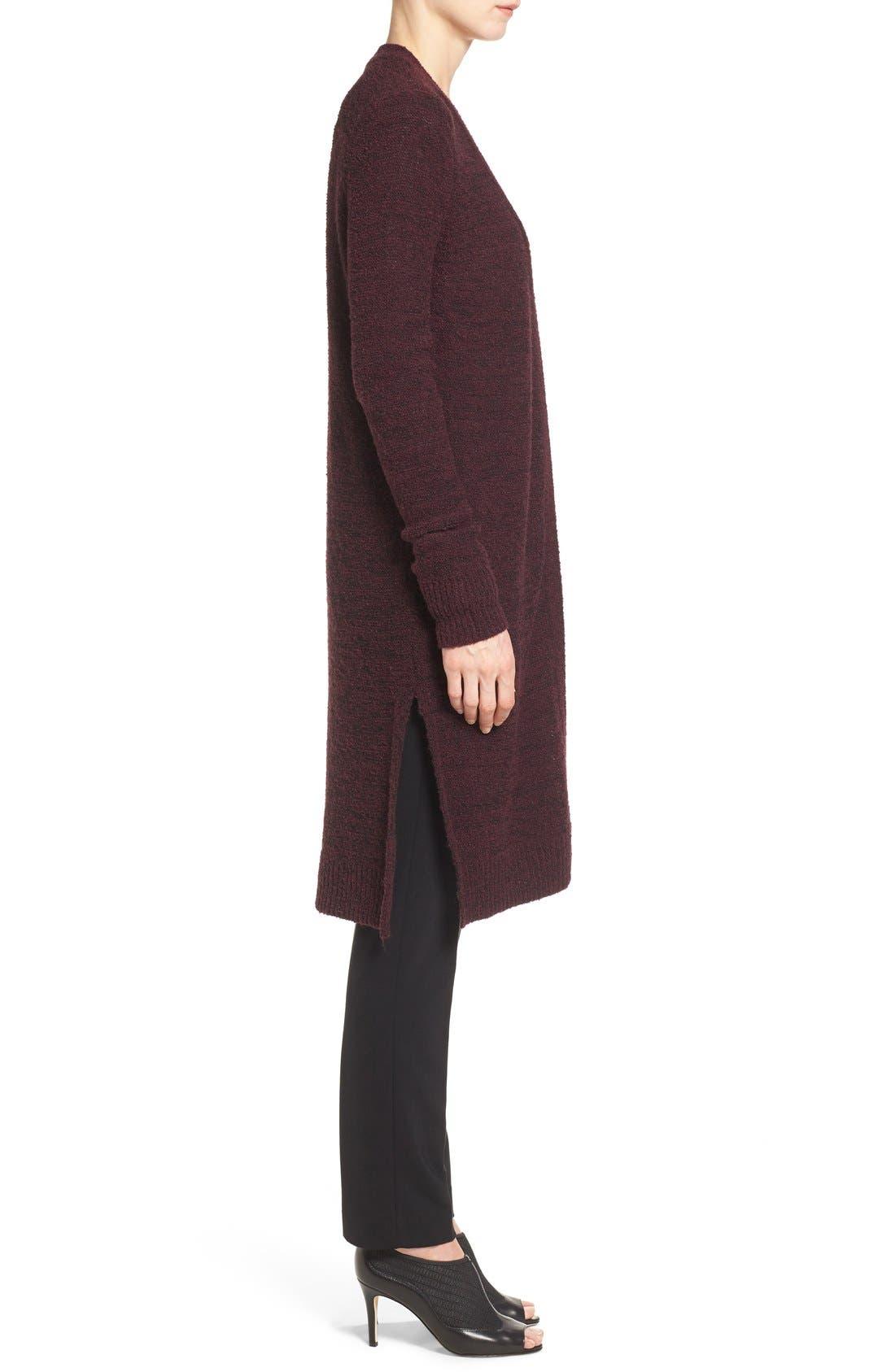 Alternate Image 3  - Halogen® Long Side Slit Cardigan (Regular & Petite)
