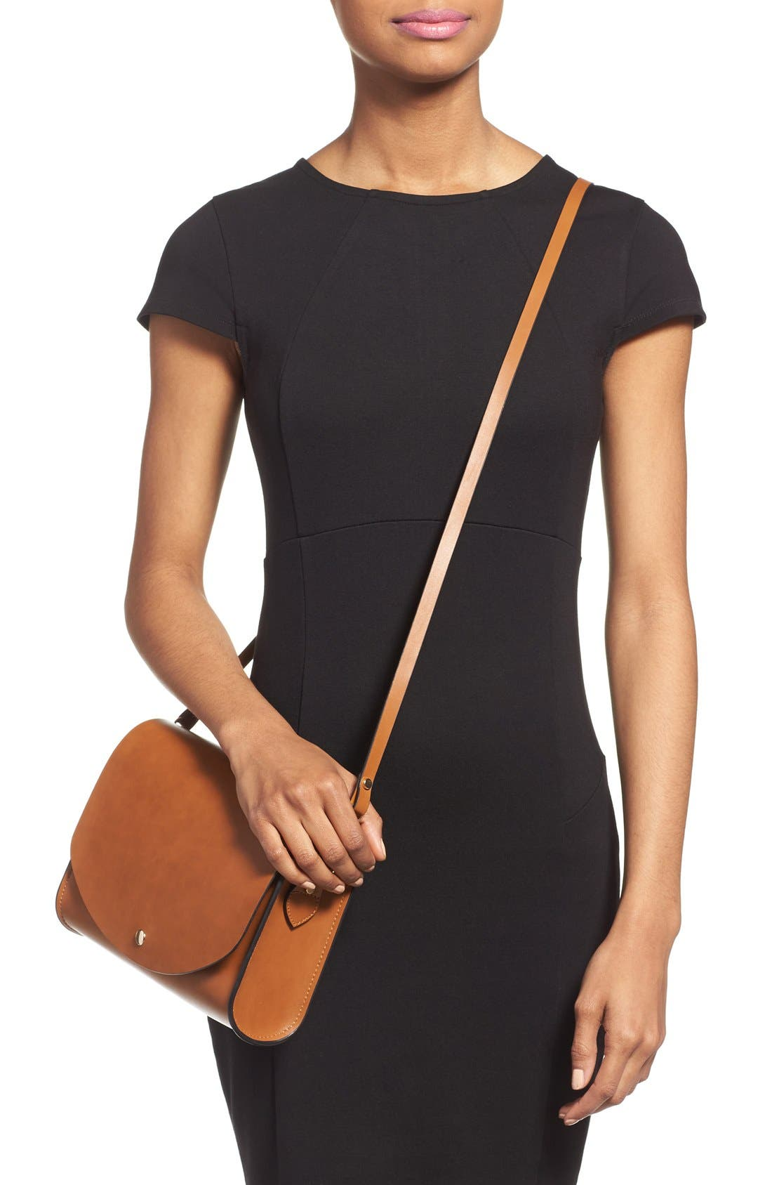 Alternate Image 2  - Cesca Faux Leather Crossbody Bag