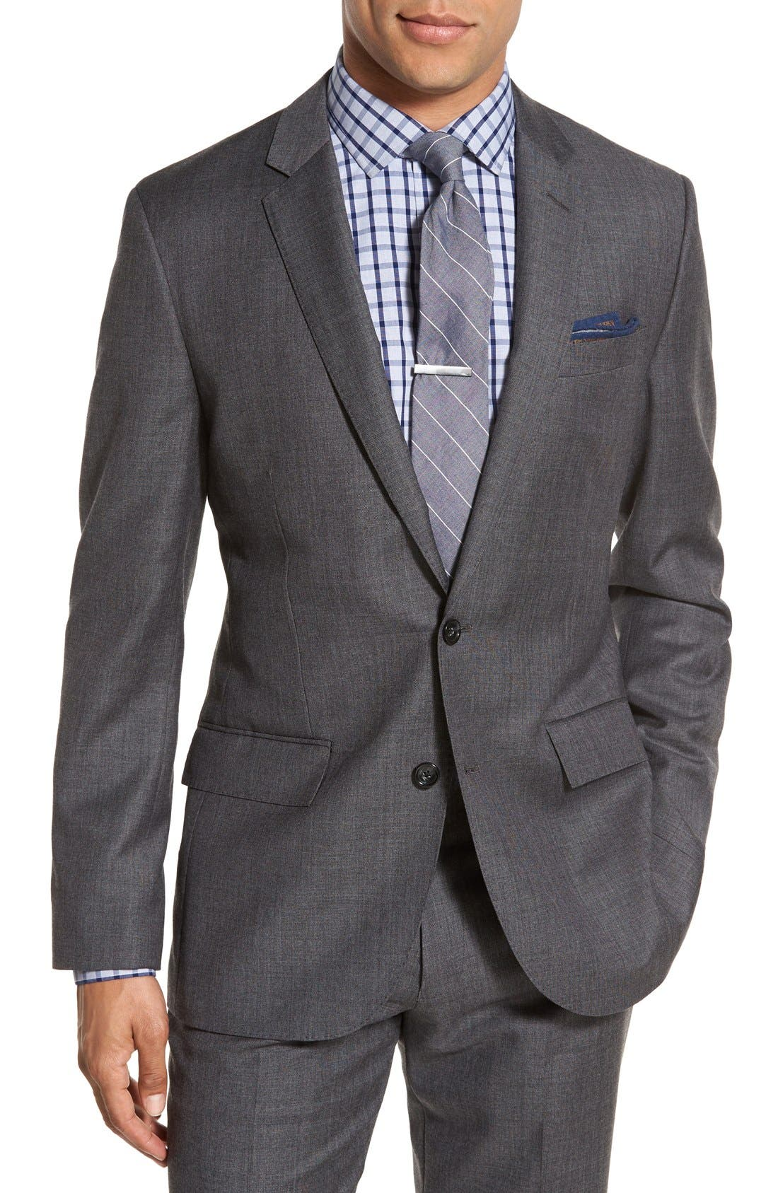 J.Crew Ludlow Trim Fit Solid Wool Sport Coat