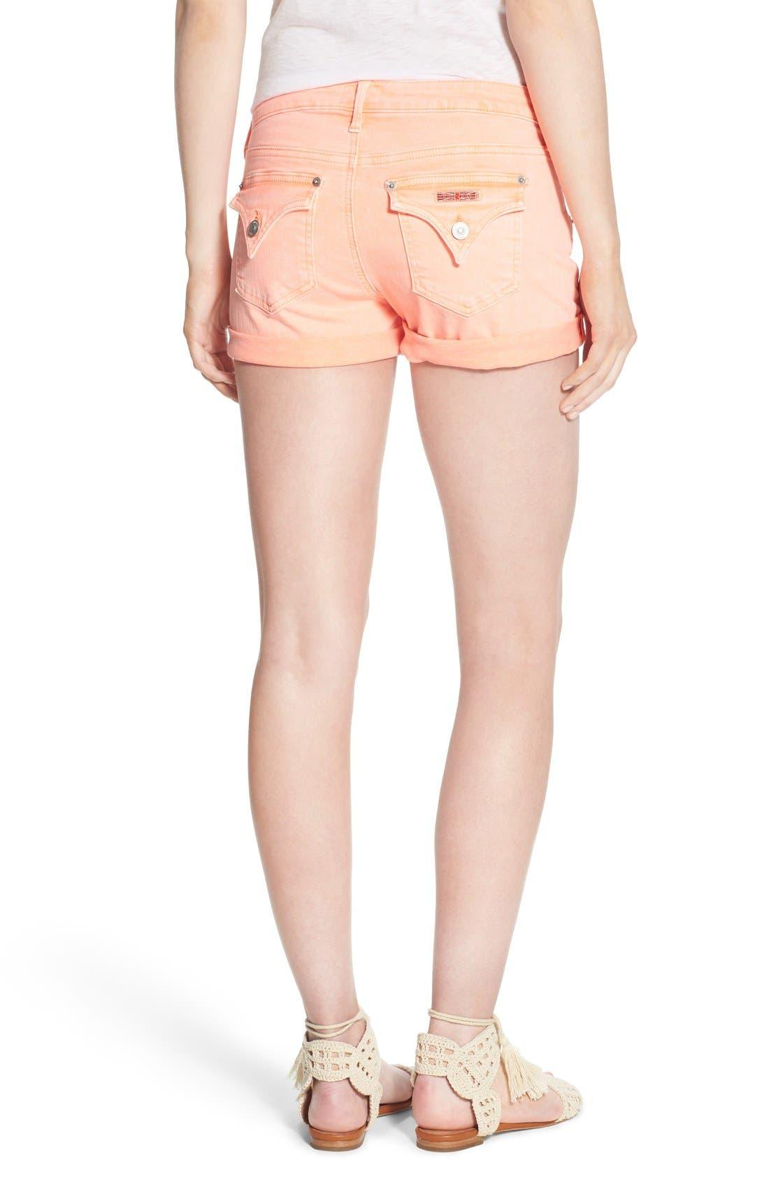 Alternate Image 2  - Hudson Jeans 'Hampton' Cuffed Denim Shorts (Luminous Orange)
