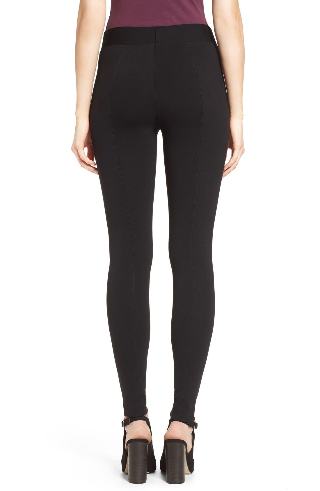 Alternate Image 2  - Two by Vince Camuto Seamed Back Leggings (Regular & Petite)
