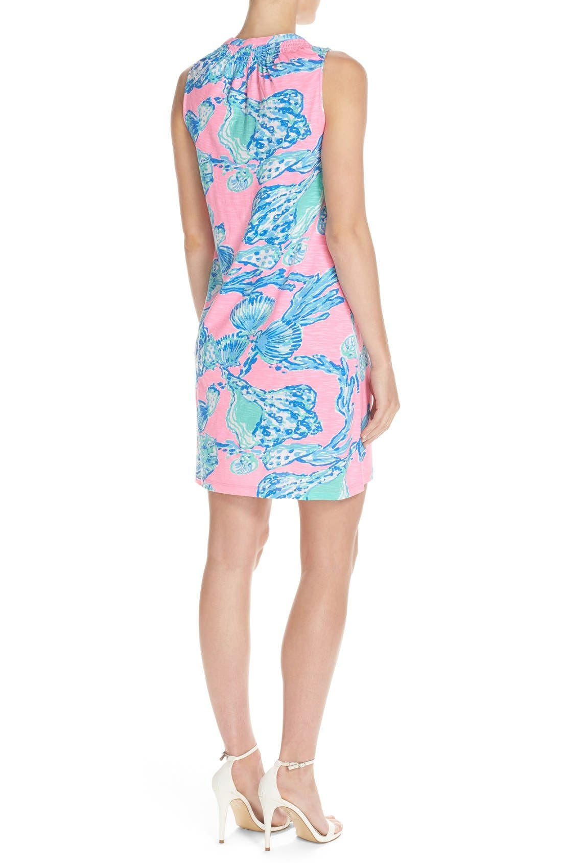Alternate Image 2  - Lilly Pulitzer® 'Essie' Print Cotton & Modal A-Line Dress
