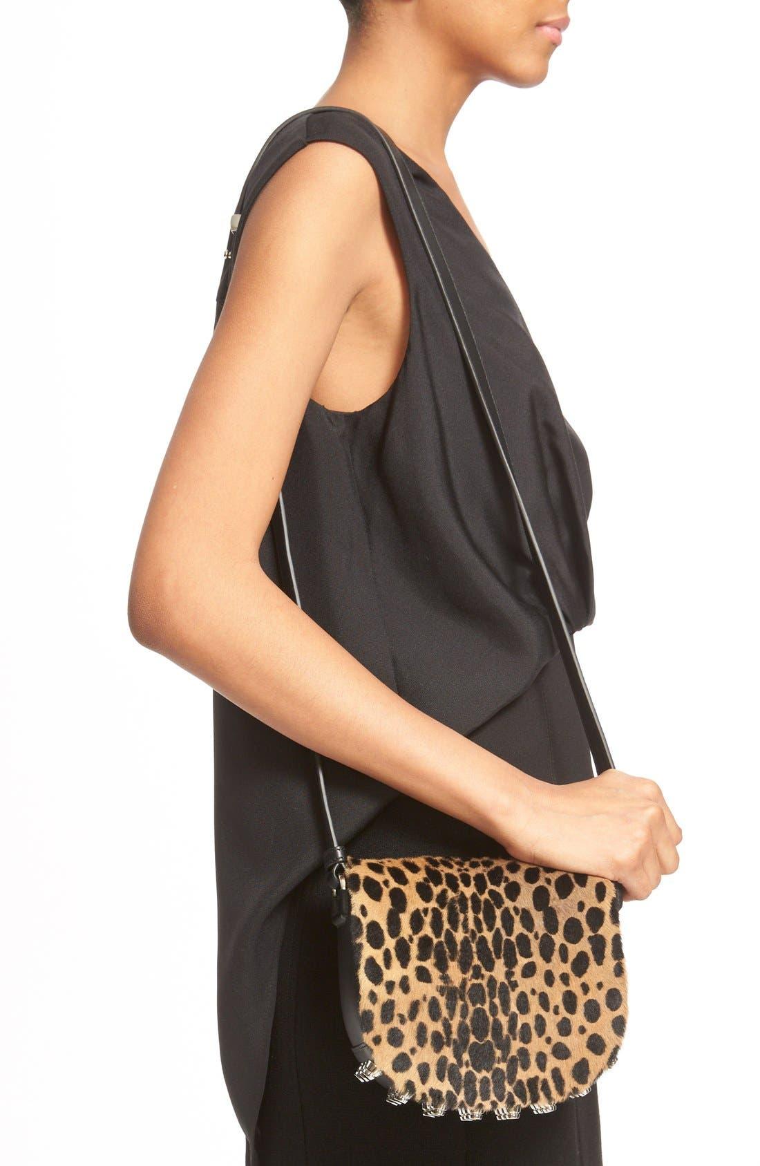 Alternate Image 2  - Alexander Wang 'Mini Lia' Cheetah Print Genuine Kangaroo Fur Crossbody Bag