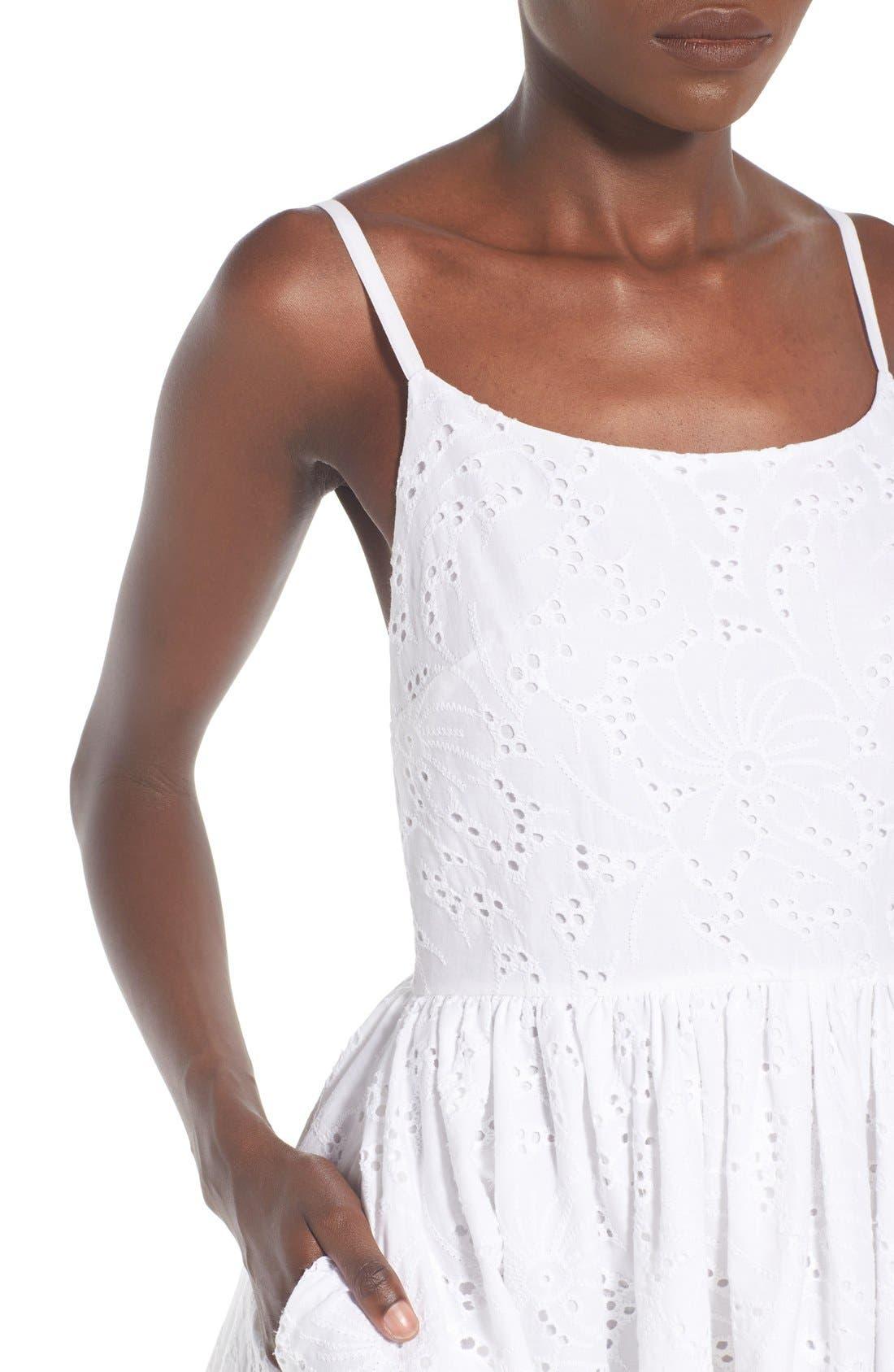 Alternate Image 4  - Rachel Antonoff 'Melissa' Cotton Eyelet Fit & Flare Dress