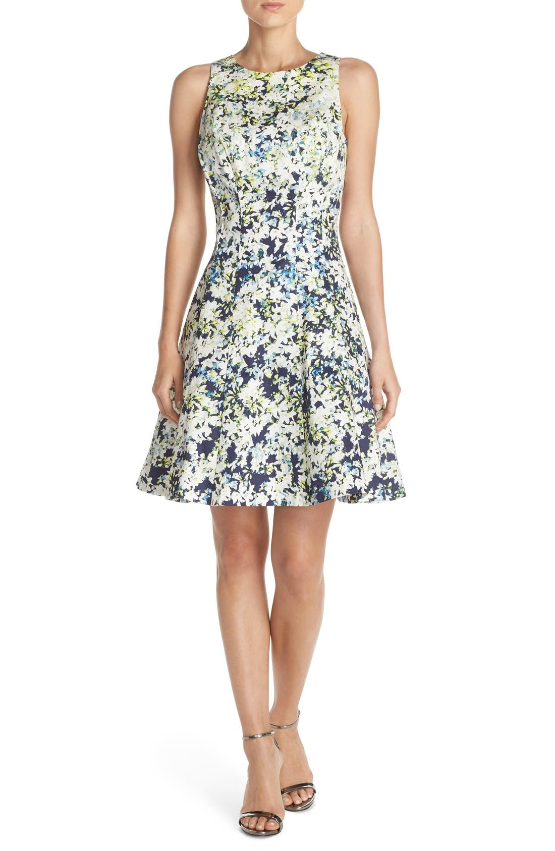 Alternate Image 4  - Maggy London Embroidered Cotton Blend Fit & Flare Dress (Regular & Petite)