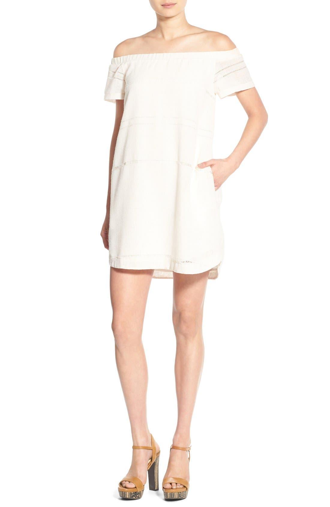 Alternate Image 1 Selected - ASTR Off the Shoulder Shift Dress