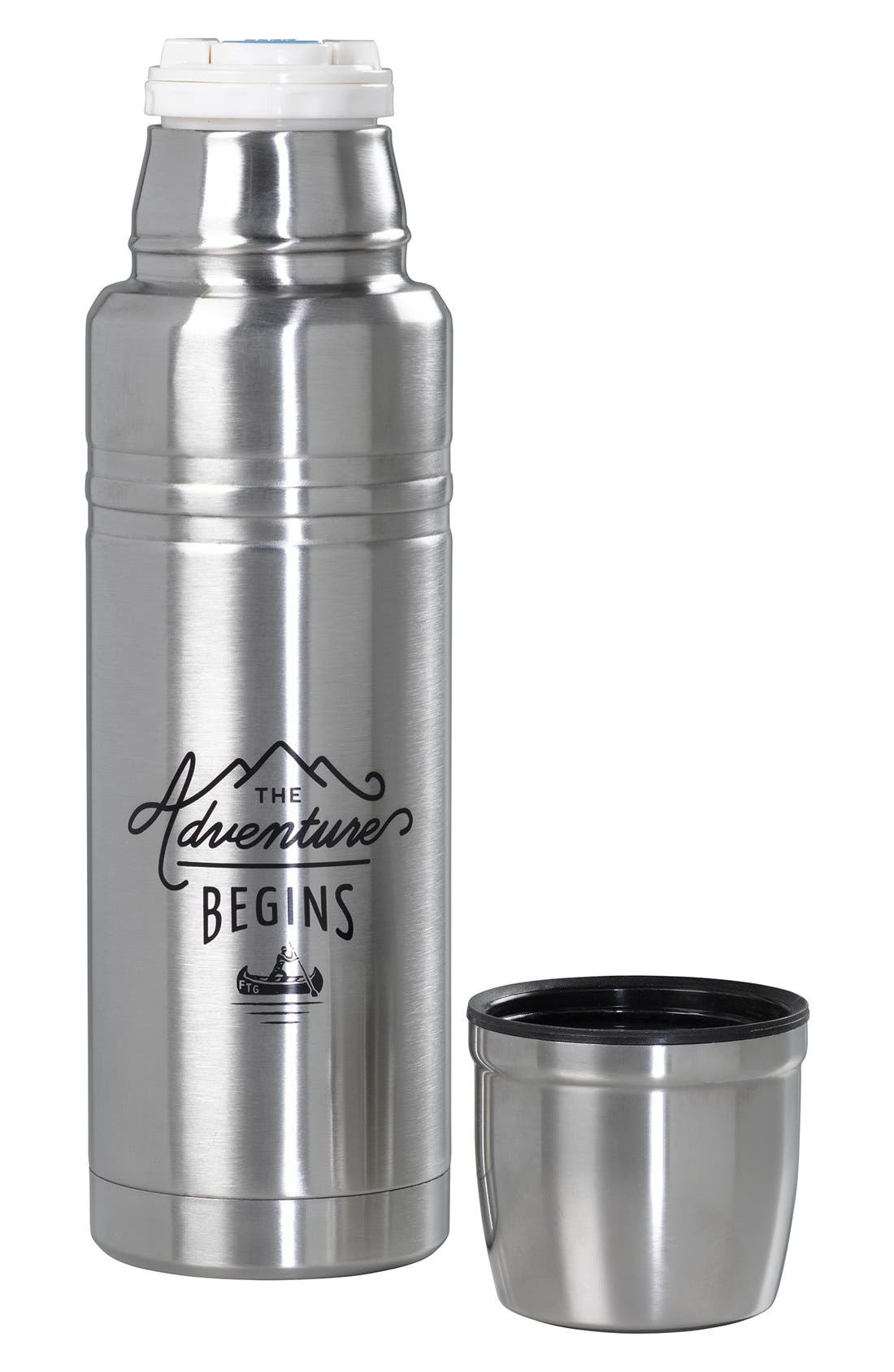 Alternate Image 3  - Wild and Wolf 'The Adventure Begins' Stainless Steel Vacuum Flask