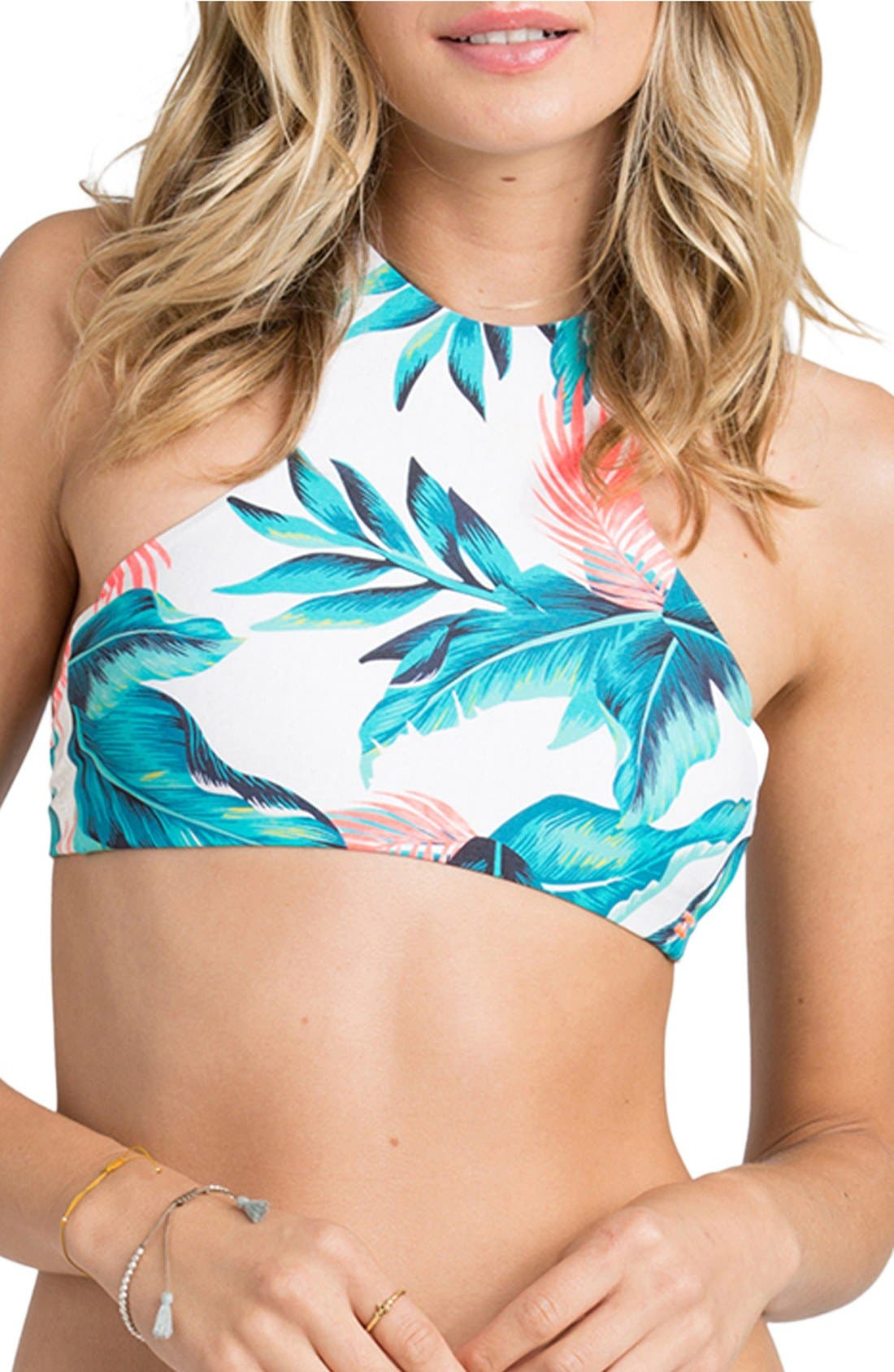 Alternate Image 1 Selected - Billabong 'Tropical Daze' High Neck Halter Bikini Top
