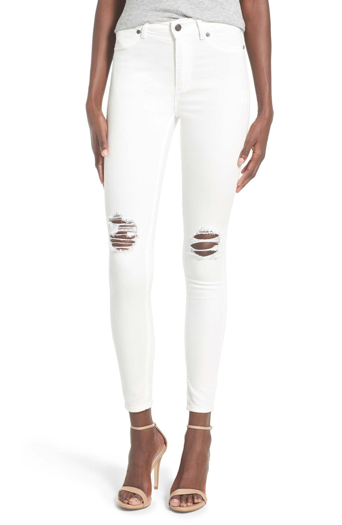 Alternate Image 1 Selected - Cheap Monday High Rise Distressed Skinny Jeans