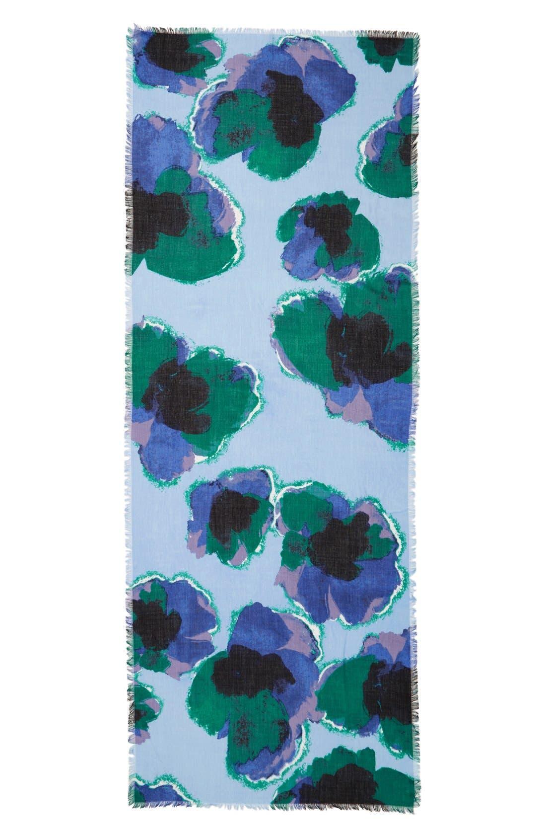 Alternate Image 2  - Nordstrom Floral Cashmere & Silk Scarf