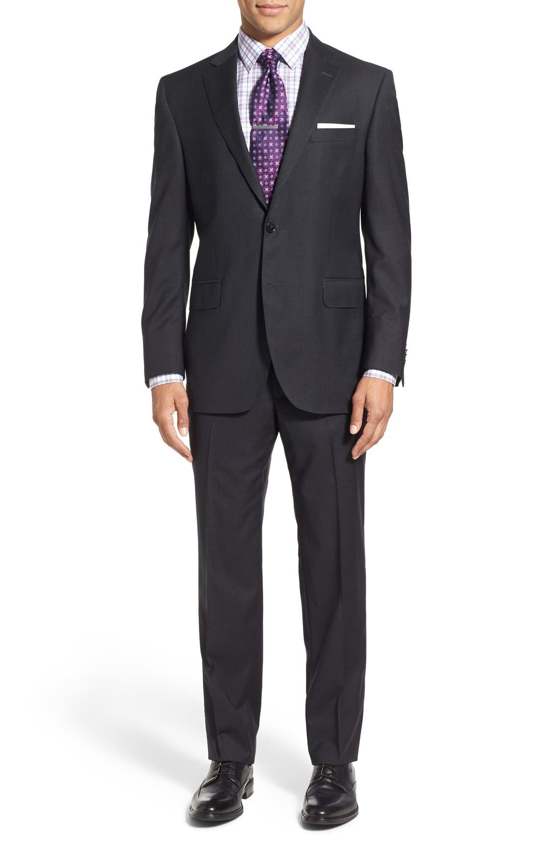 PETER MILLAR 'Flynn' Classic Fit Solid Wool Suit