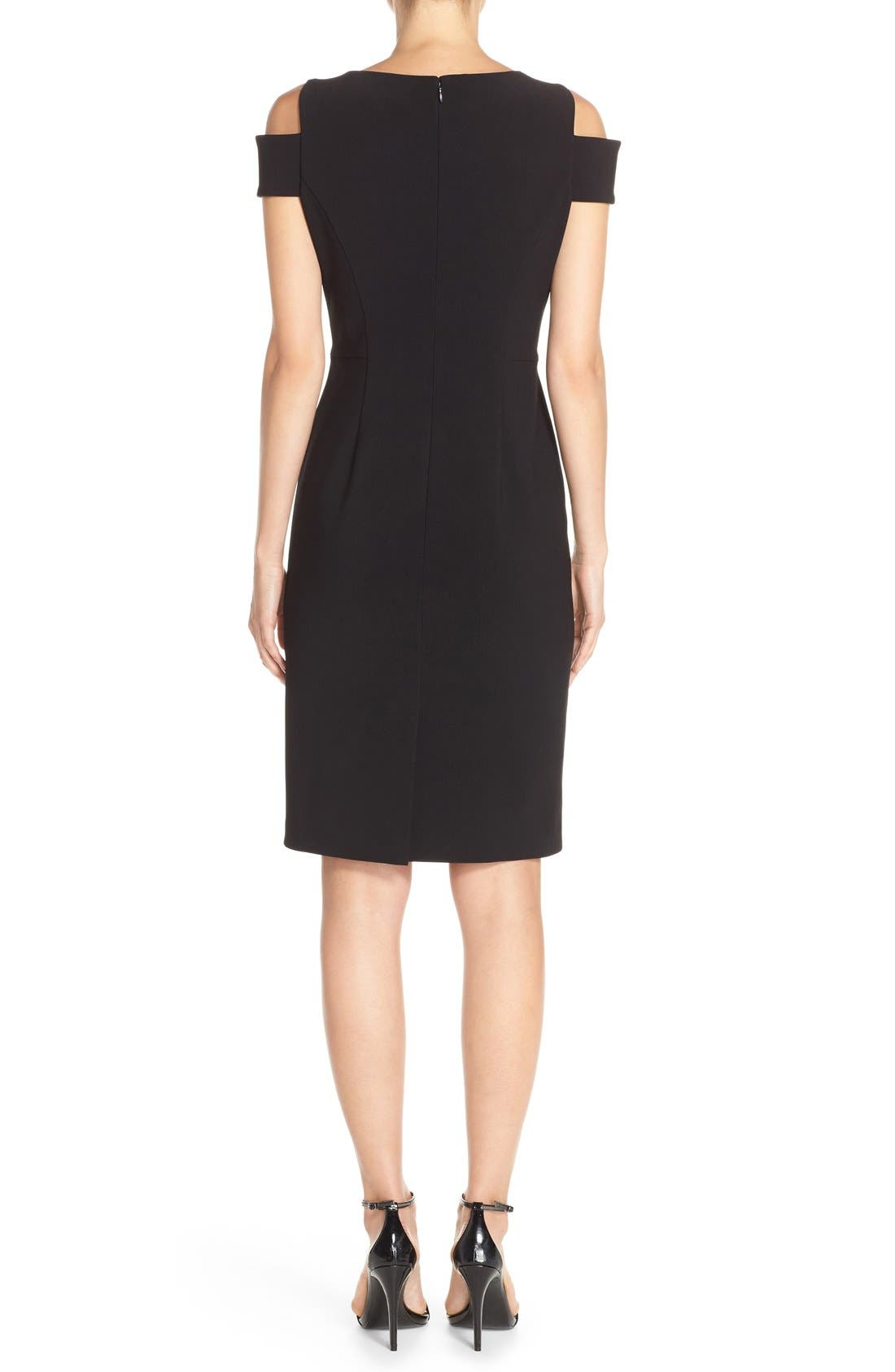 Alternate Image 2  - Vince Camuto Cold Shoulder Crepe Sheath Dress