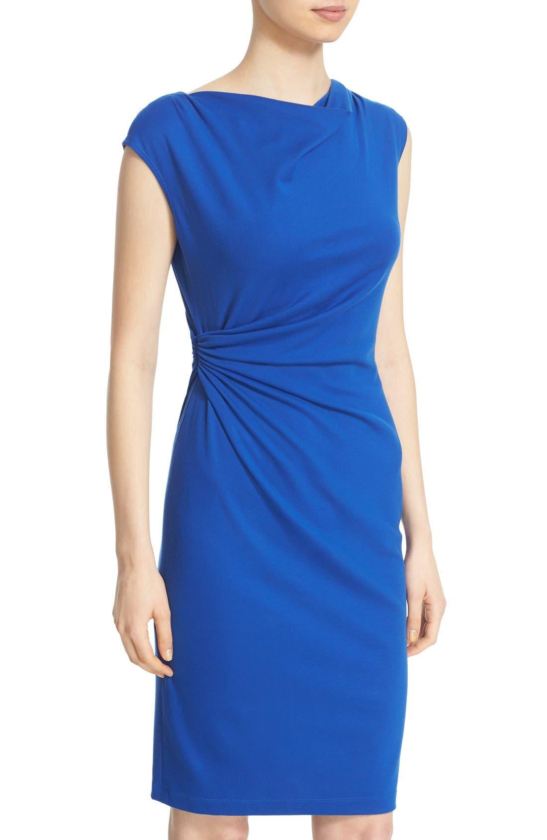 Alternate Image 6  - Lafayette 148 New York Drape Neck Ponte Dress (Regular & Petite)