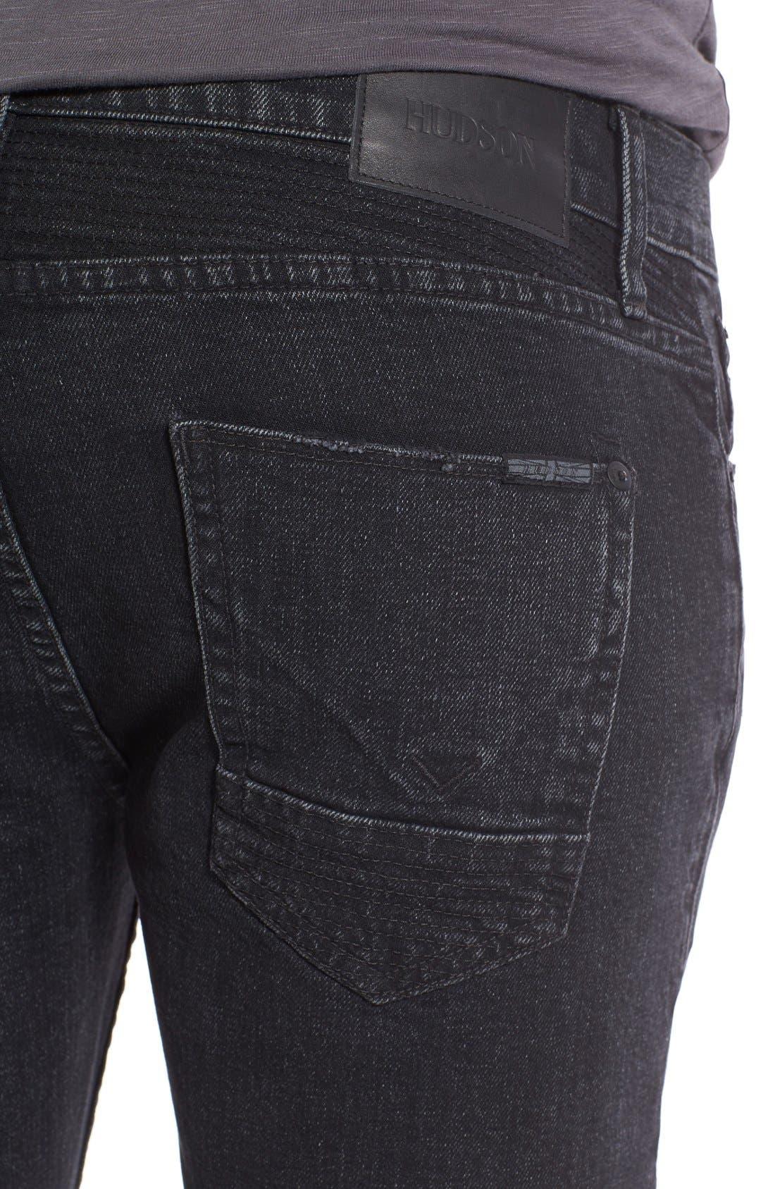 Alternate Image 4  - Hudson Jeans 'Blinder' Skinny Fit Moto Jeans (Hostile)