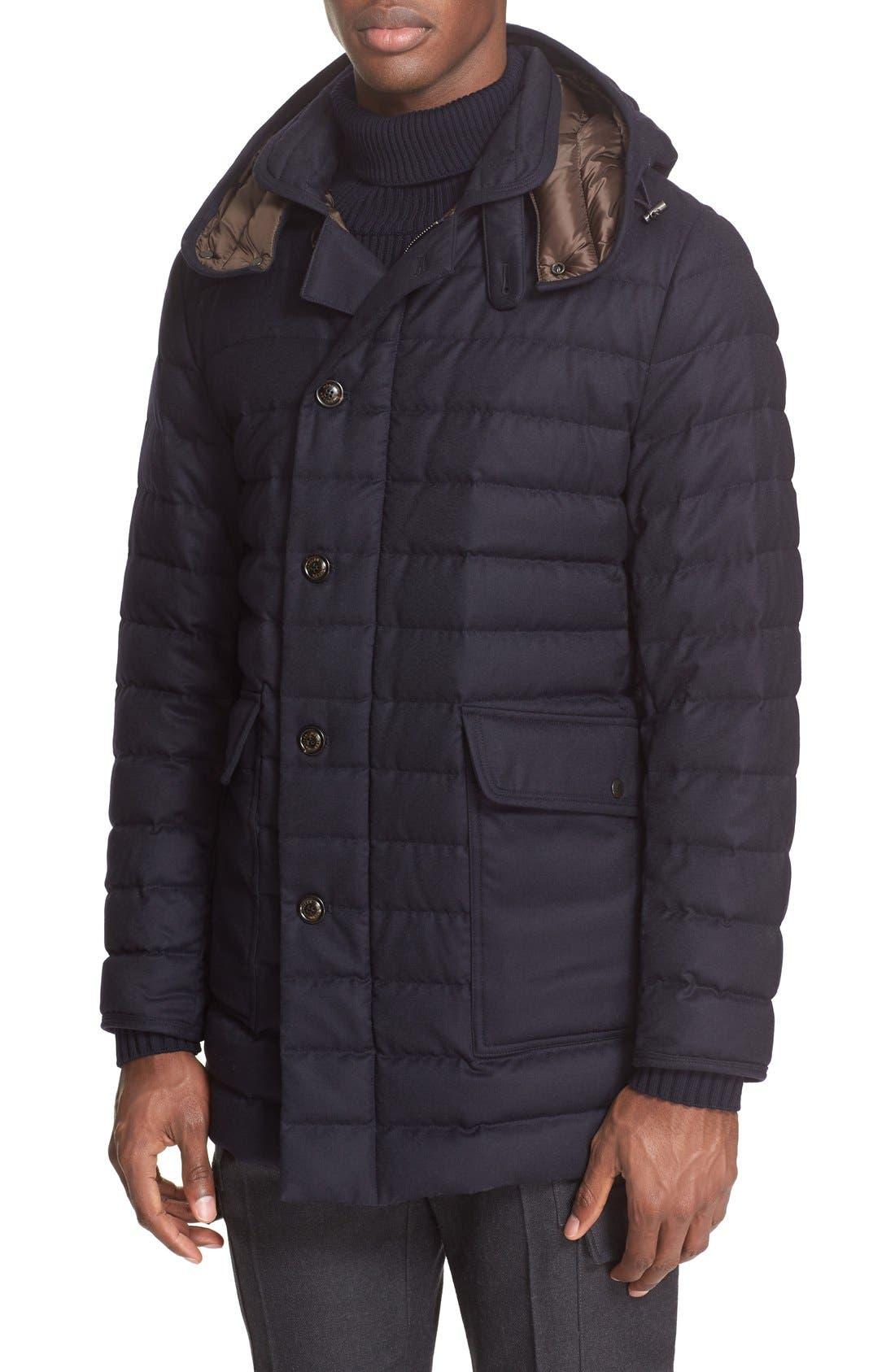MONCLER Copernick Quilted Down Overcoat