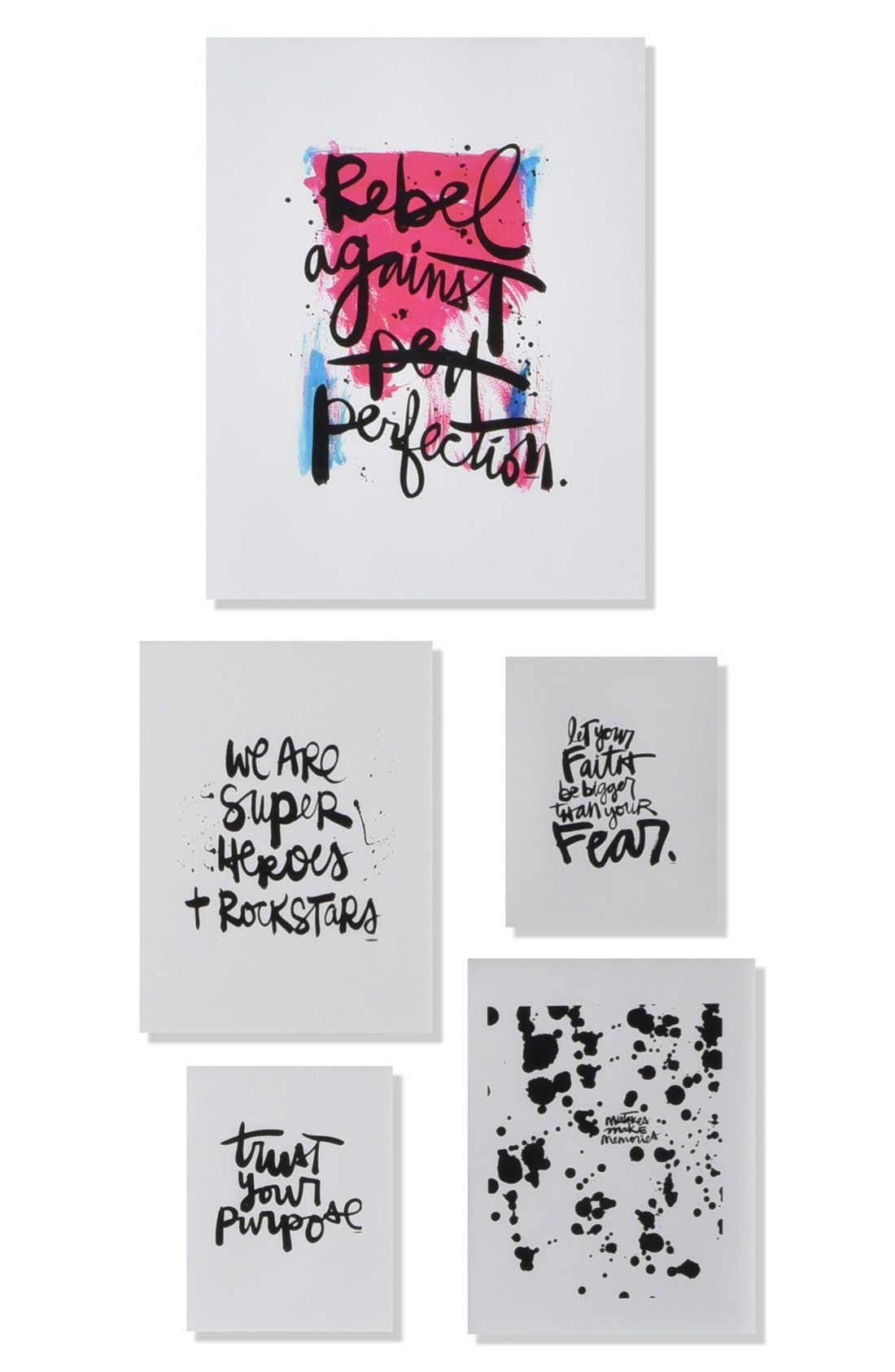 DENY DESIGNS 'Rebel Against Perfection' Wall Art Gallery
