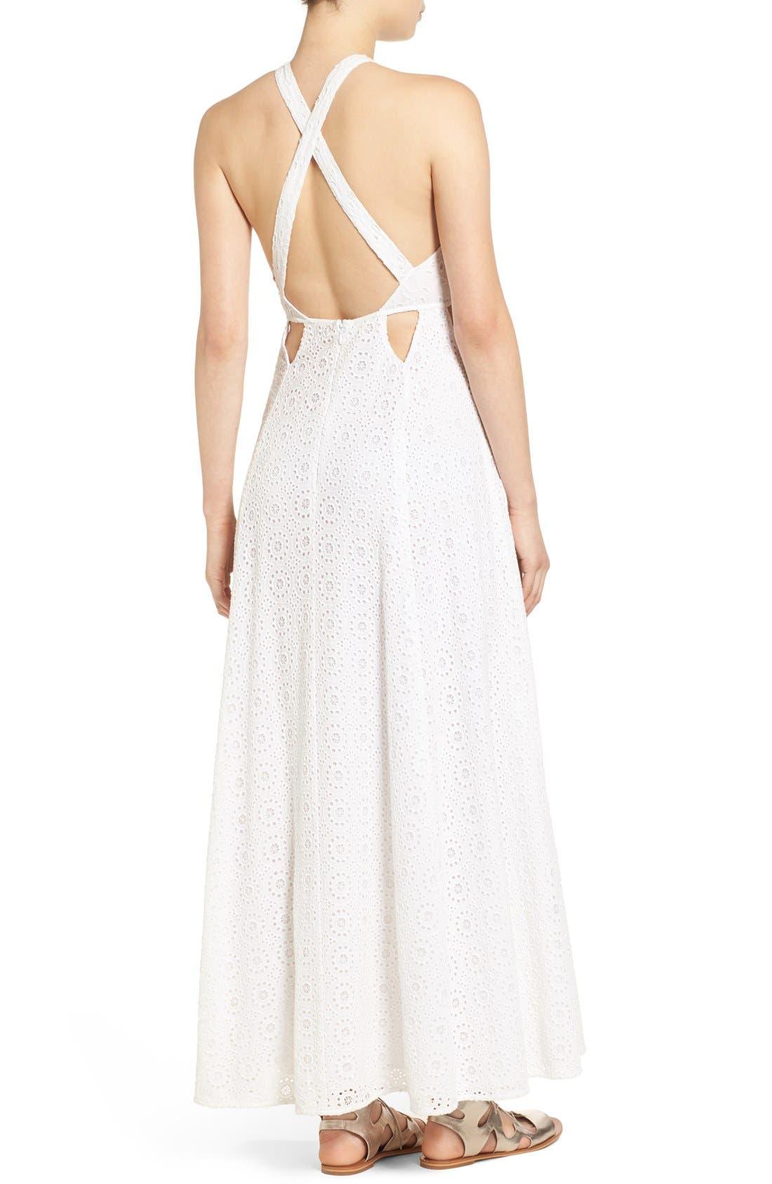 Alternate Image 2  - Tularosa 'Duchess' Cotton Lace Maxi Dress