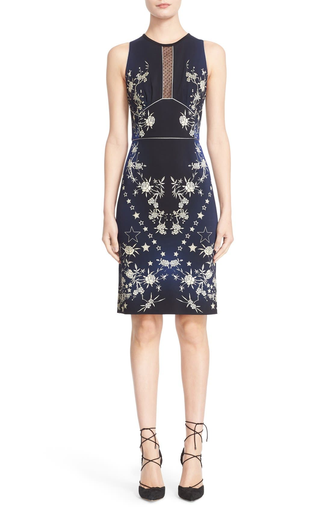 Alternate Image 1  - Roberto Cavalli 'Pretty Thing' Print Jersey Sheath Dress