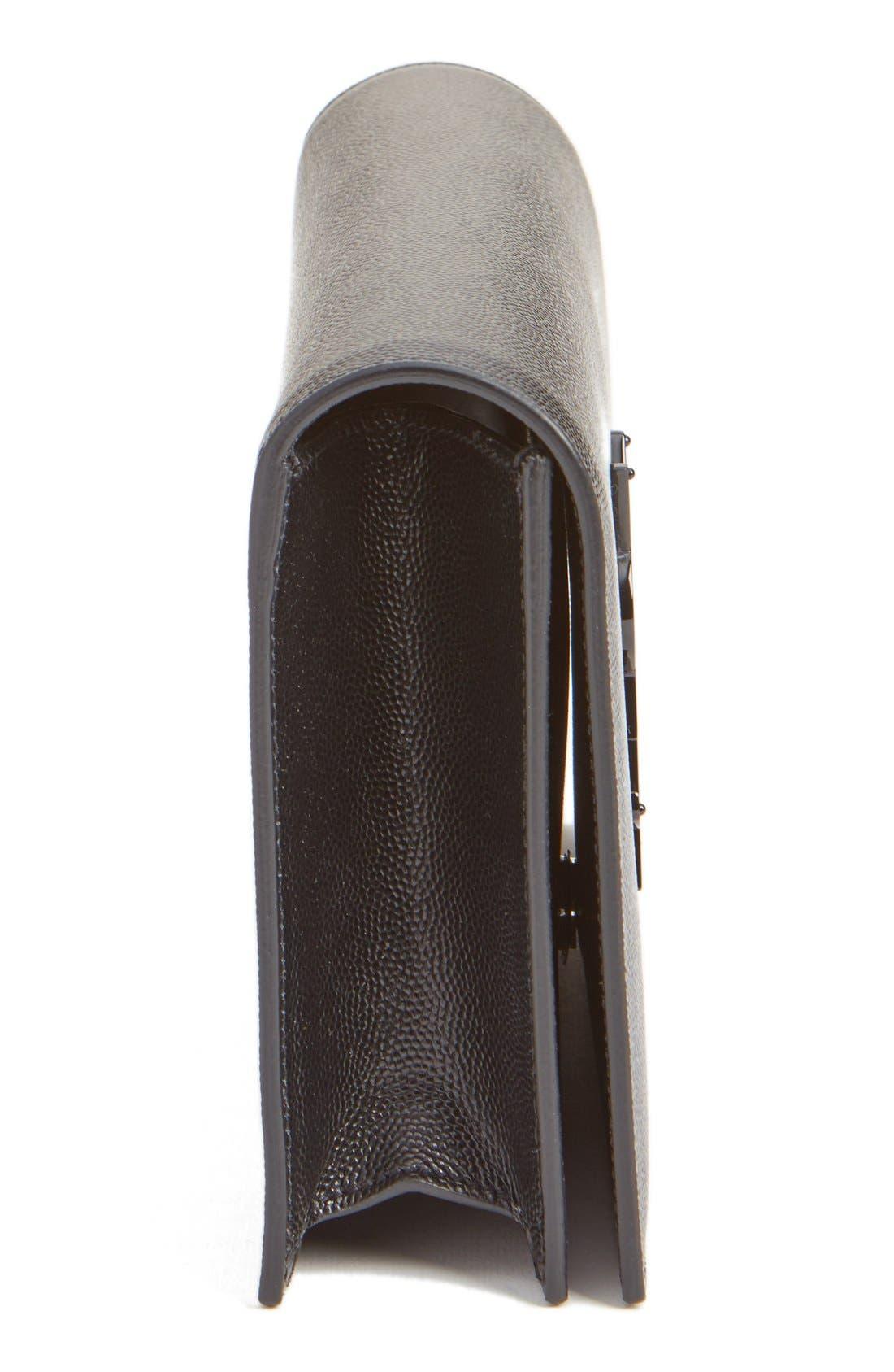 Alternate Image 4  - Saint Laurent 'Kate' Pebbled Calfskin Leather Clutch