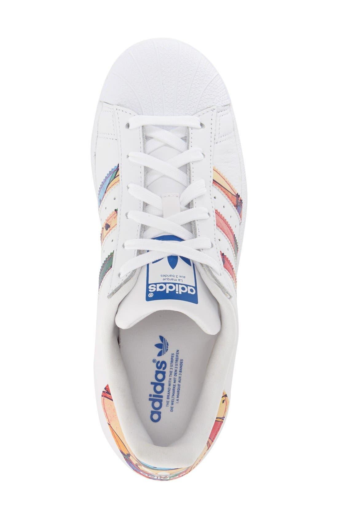 Alternate Image 3  - adidas 'Superstar' Print Sneaker (Women)