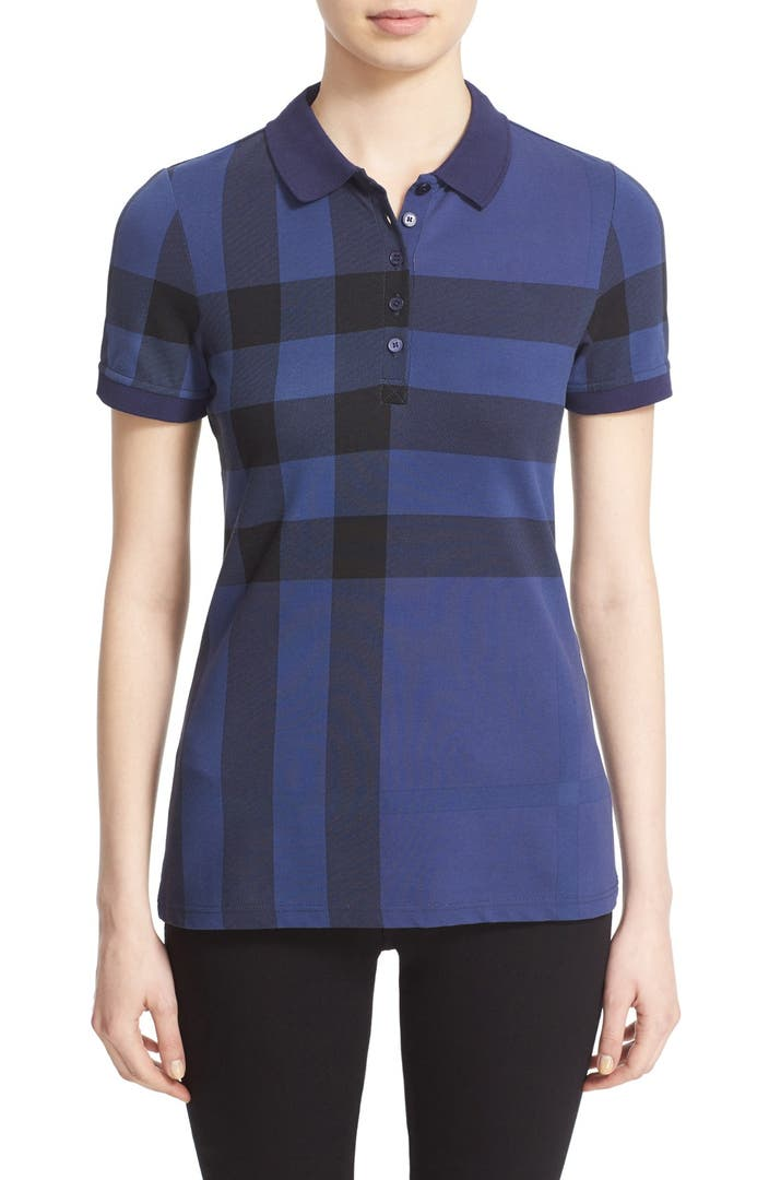 Burberry brit exploded check print polo shirt nordstrom for Burberry brit checked shirt