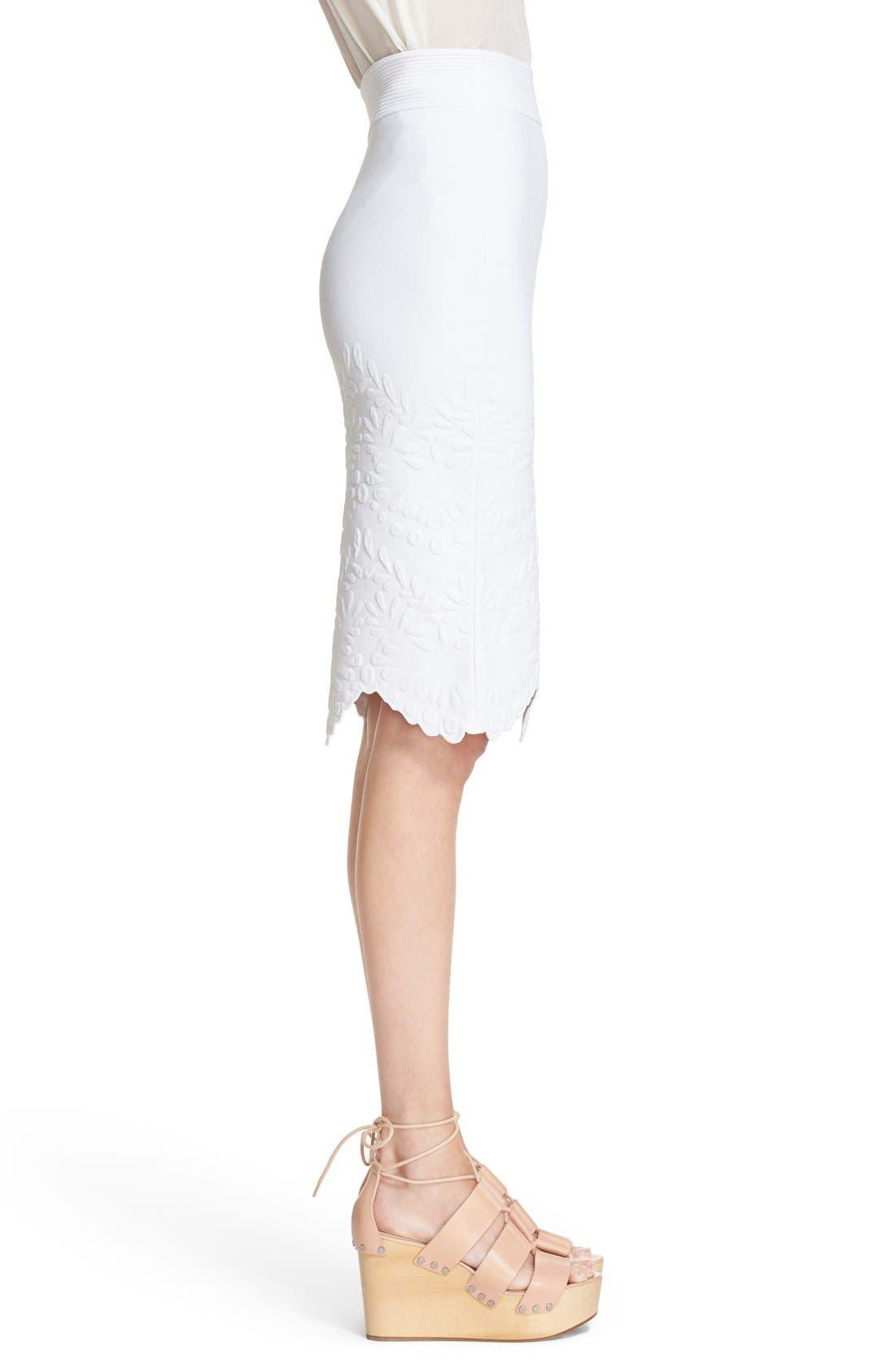 Alternate Image 5  - Alexander McQueen Embossed Jacquard Knit Pencil Skirt