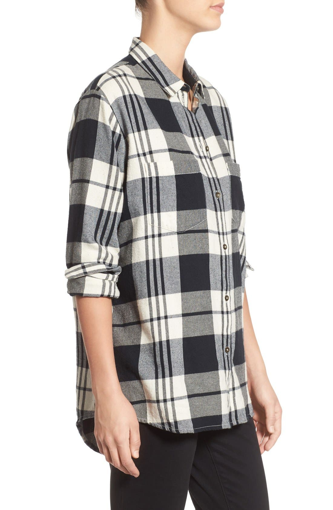 Alternate Image 3  - Madewell 'Ex Boyfriend' Plaid Oversize Cotton Shirt
