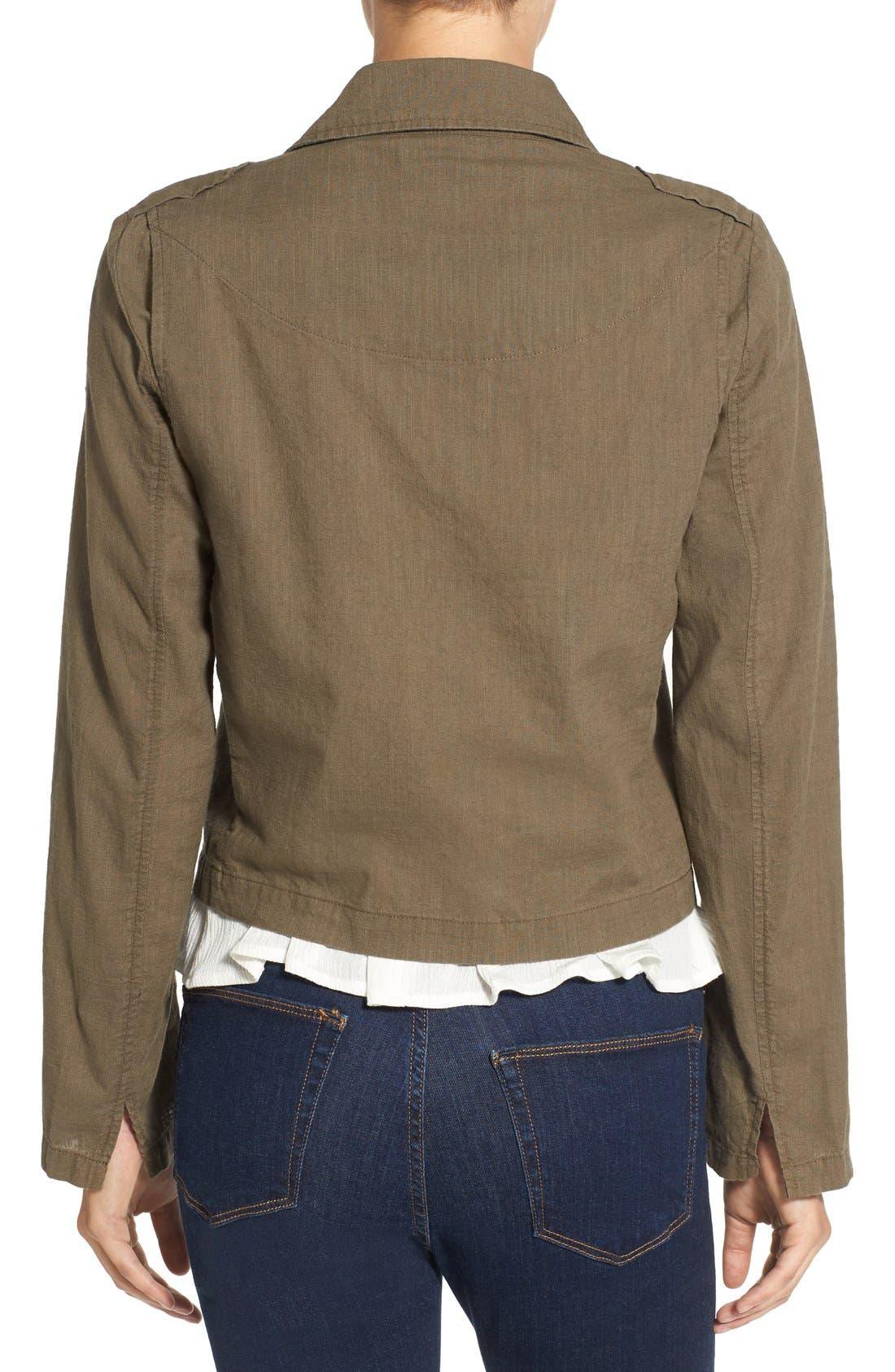Alternate Image 2  - BP. Lightweight Cotton Moto Jacket