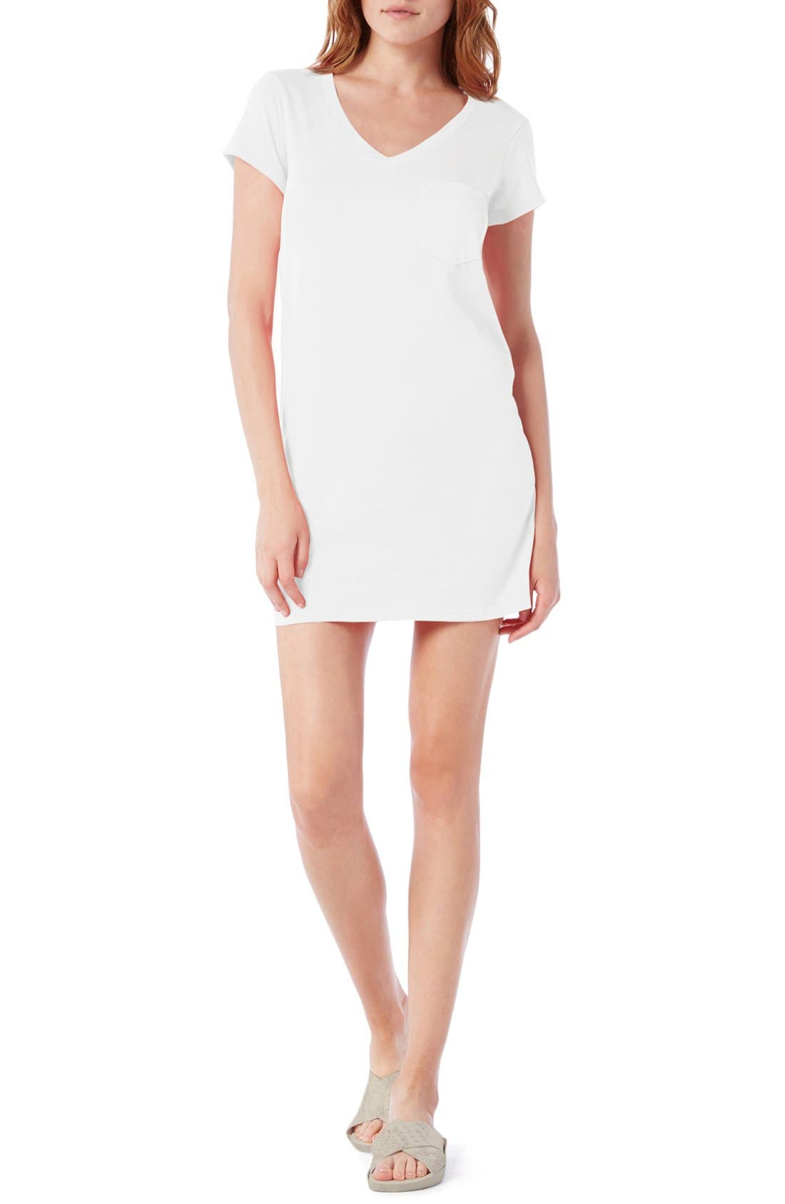 Michael Stars V-Neck Jersey Minidress