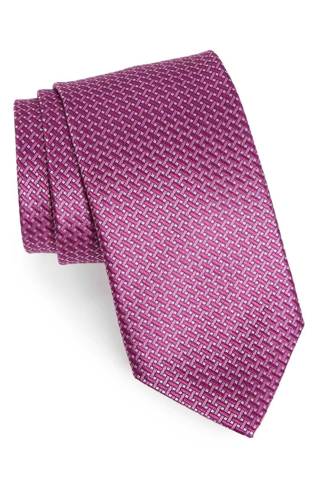 Main Image - David Donahue Geometric Silk Tie