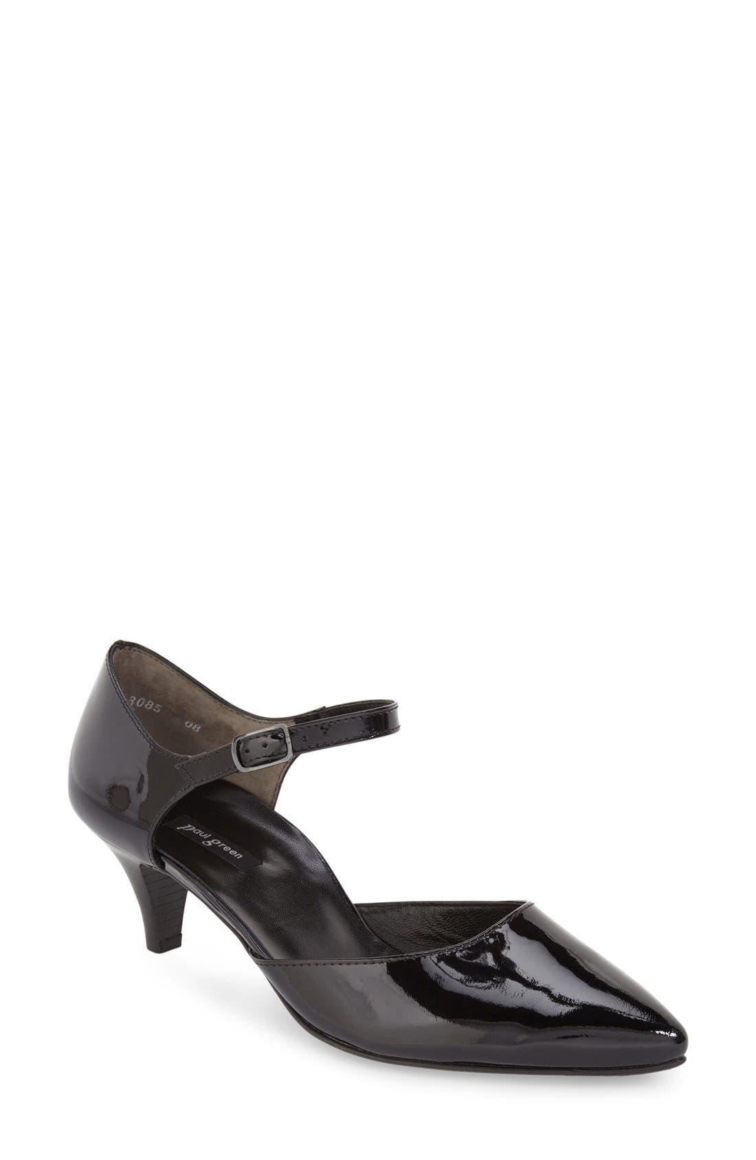 PAUL GREEN 'Hailey' Pointy Toe Ankle Strap Pump