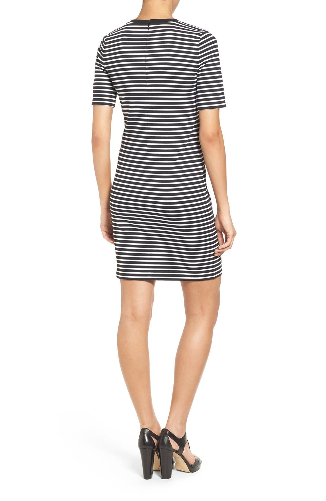 Alternate Image 2  - MICHAEL Michael Kors Crewneck T-Shirt Dress (Regular & Petite)