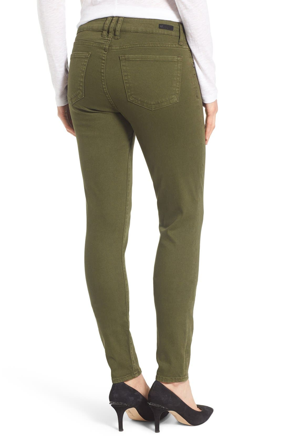 Alternate Image 2  - KUT from the Kloth Diana Colored Denim Skinny Jeans