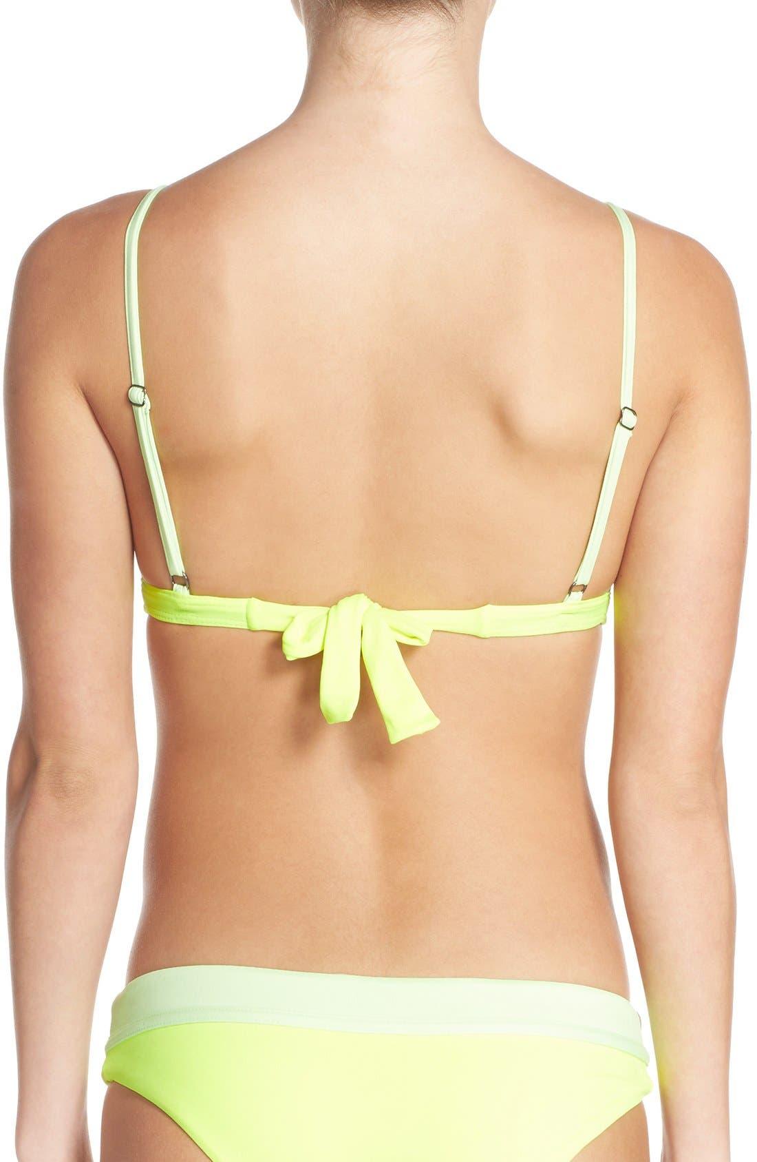 Alternate Image 2  - Maaji 'Lime Collage' Reversible Triangle Bikini Top