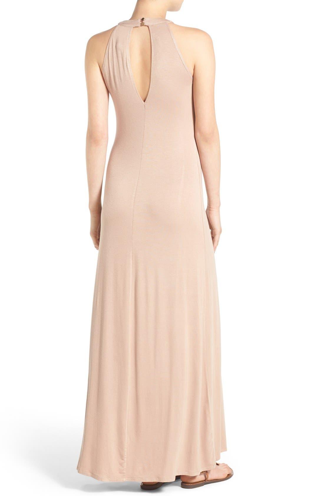 Alternate Image 2  - Mimi Chica High Neck Maxi Dress