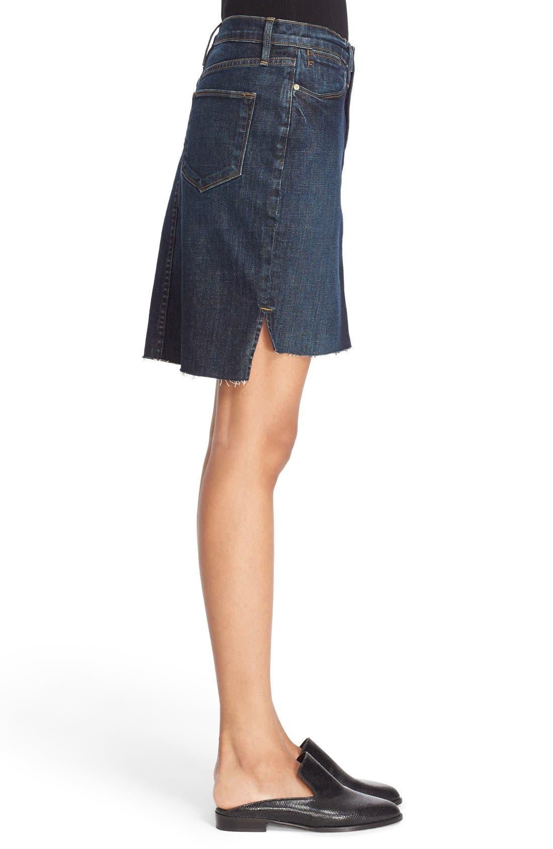 Alternate Image 4  - FRAME High Rise Denim Miniskirt (Catamaran)