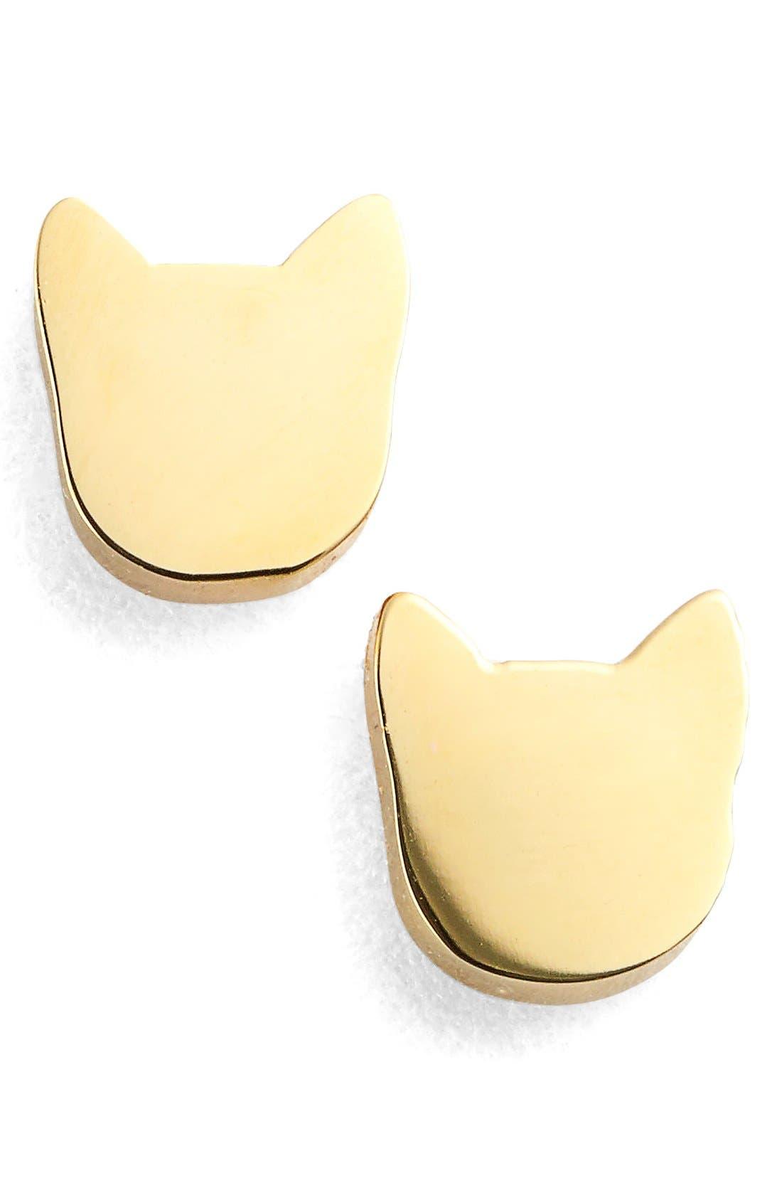 Alternate Image 1 Selected - Seoul Little Cat Stud Earrings