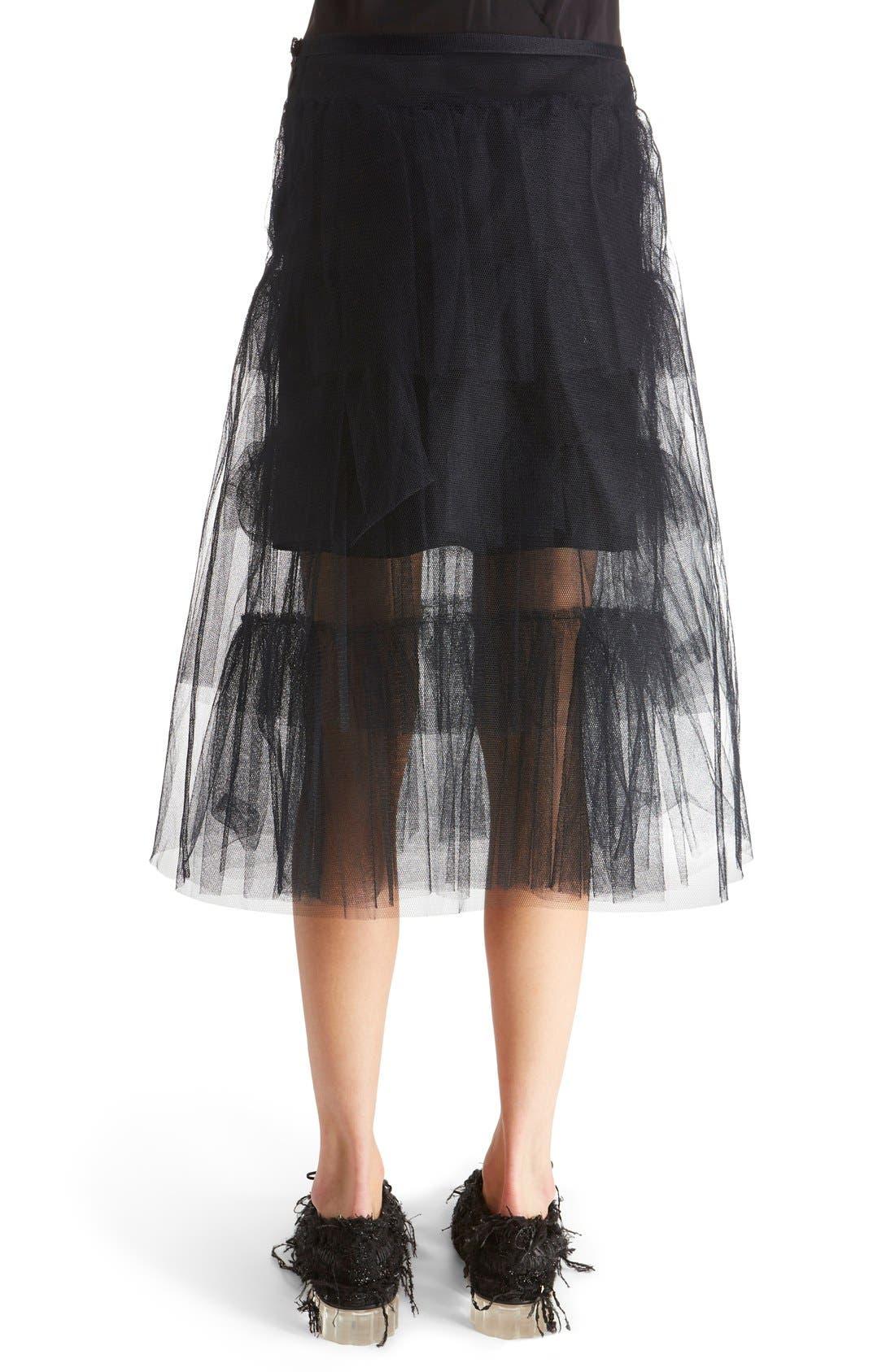 Alternate Image 2  - Simone Rocha Tiered Net Skirt