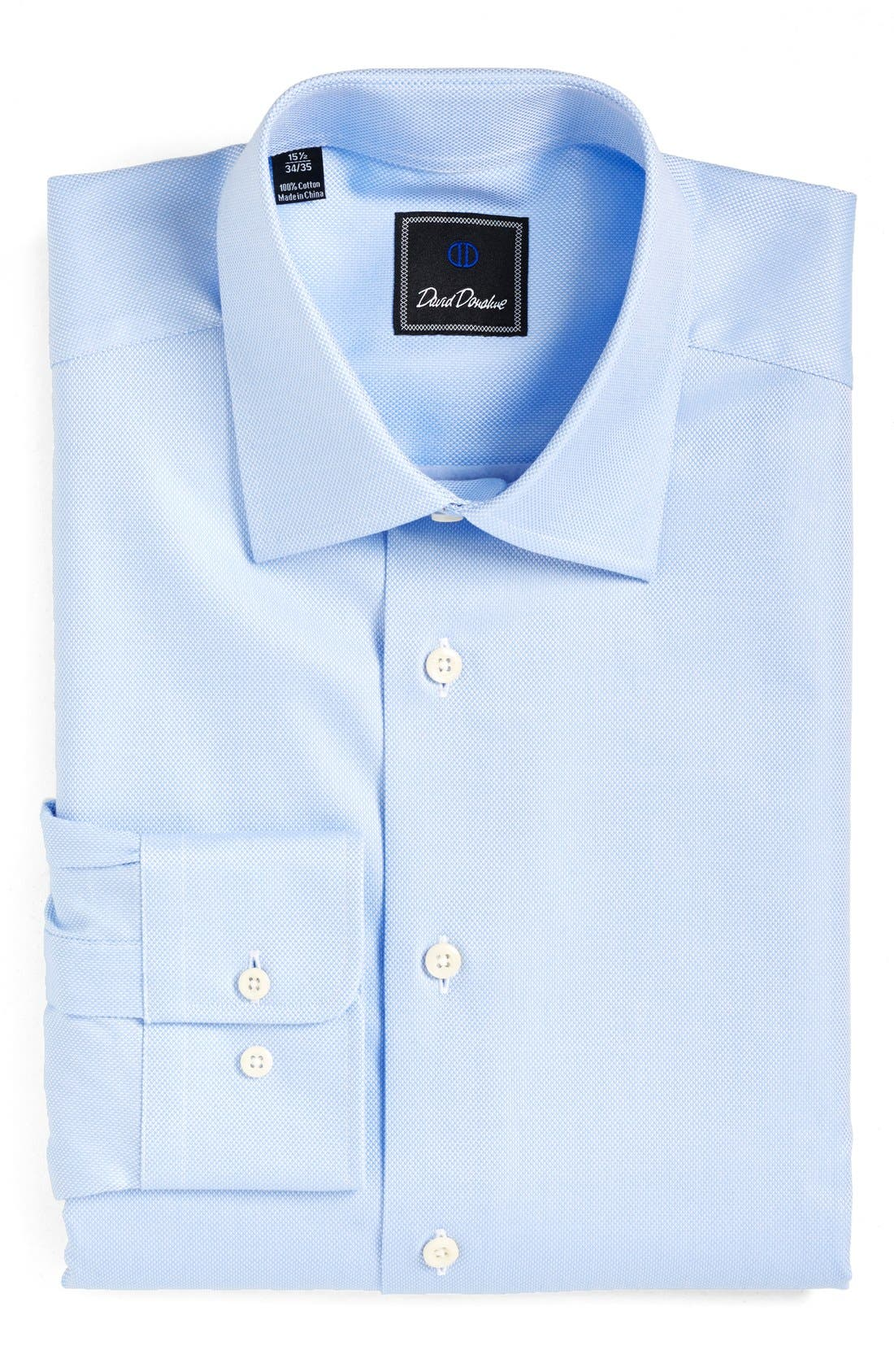 Main Image - David Donahue Regular Fit Oxford Dress Shirt