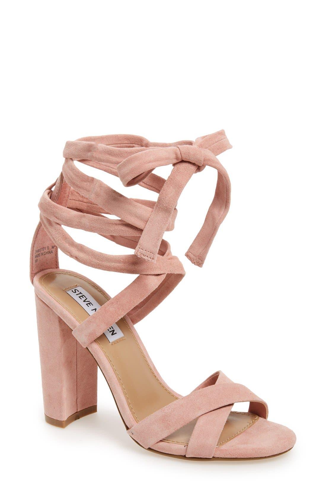 Alternate Image 1 Selected - Steve Madden 'Christey' Wraparound Ankle Tie Sandal (Women)