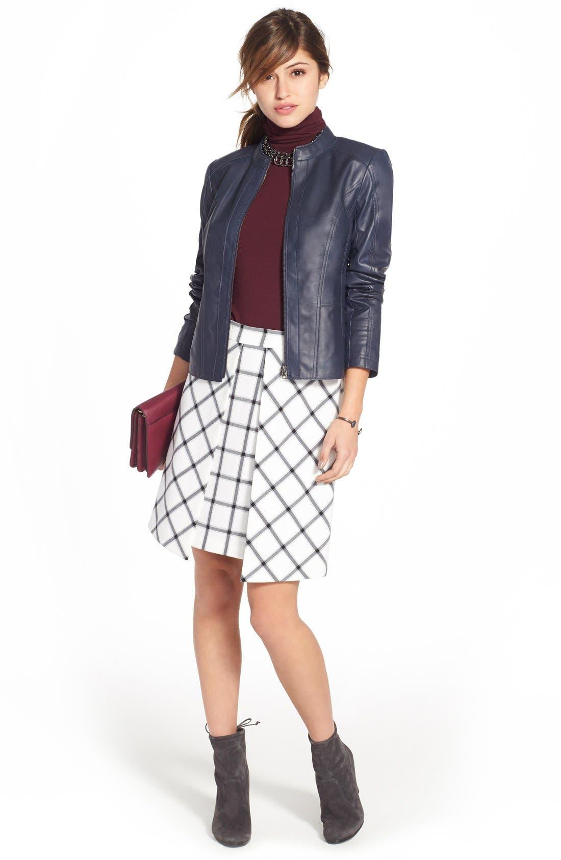 Alternate Image 2  - Halogen® Pleat Detail A-Line Skirt (Regular & Petite)