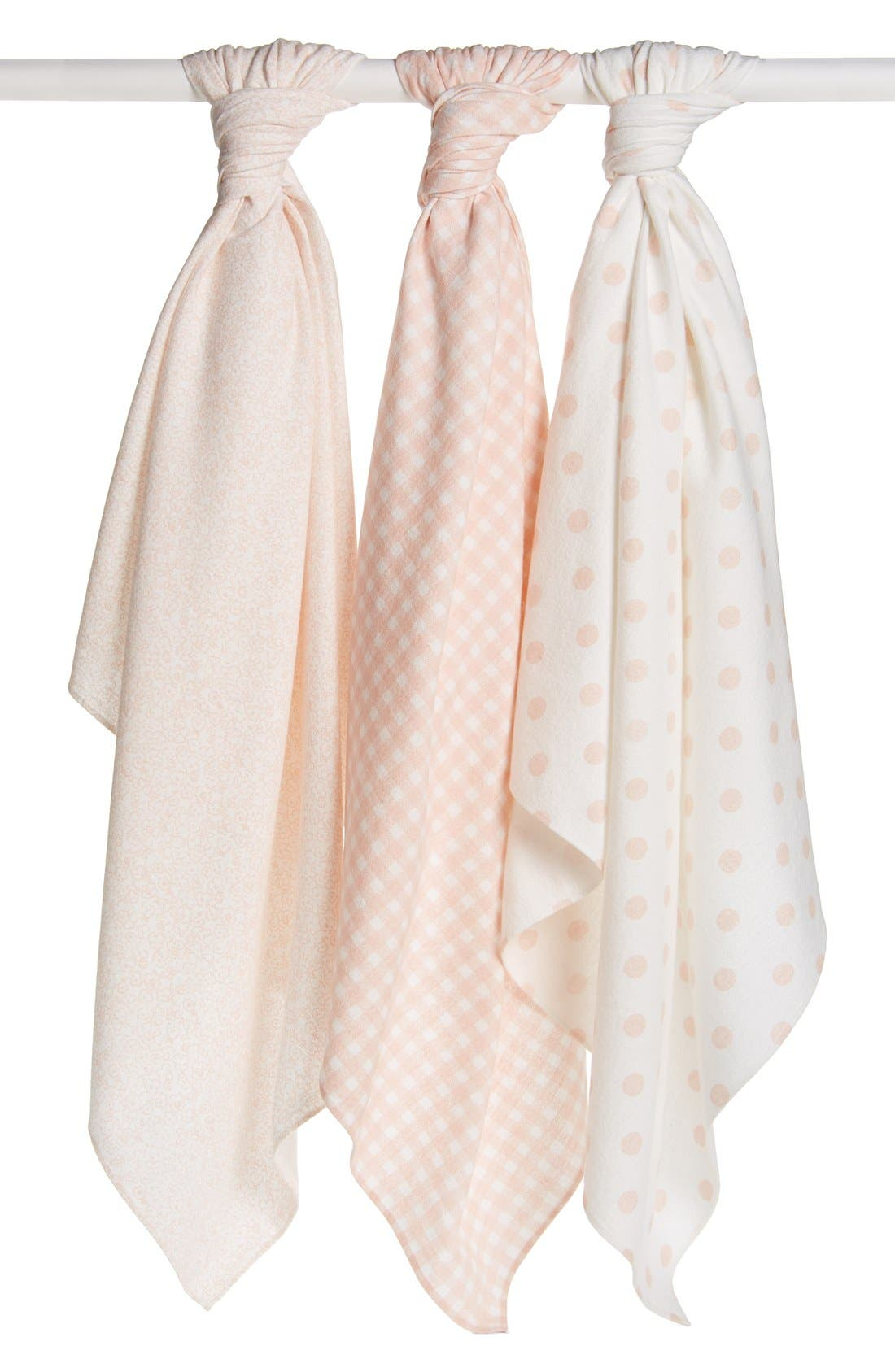 Alternate Image 2  - Nordstrom Baby Cotton Flannel Swaddles (3-Pack)