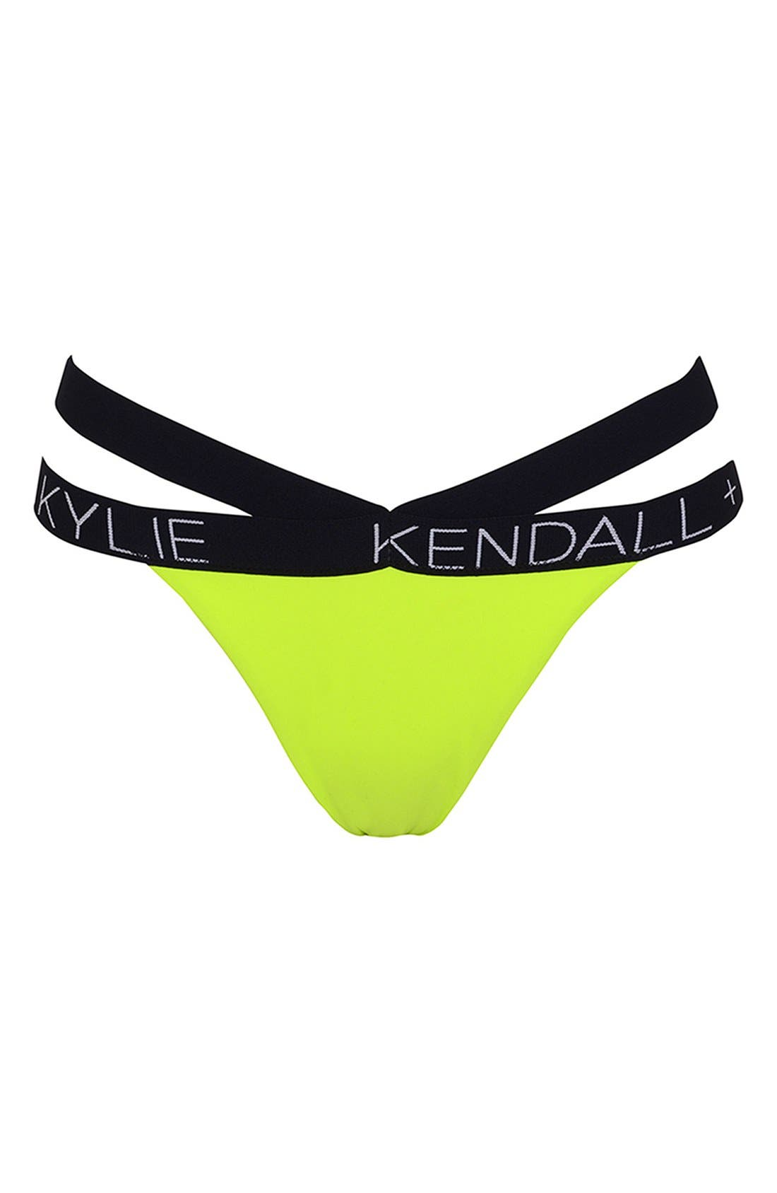 Main Image - KENDALL + KYLIE at Topshop Contrast Trim Bikini Bottoms