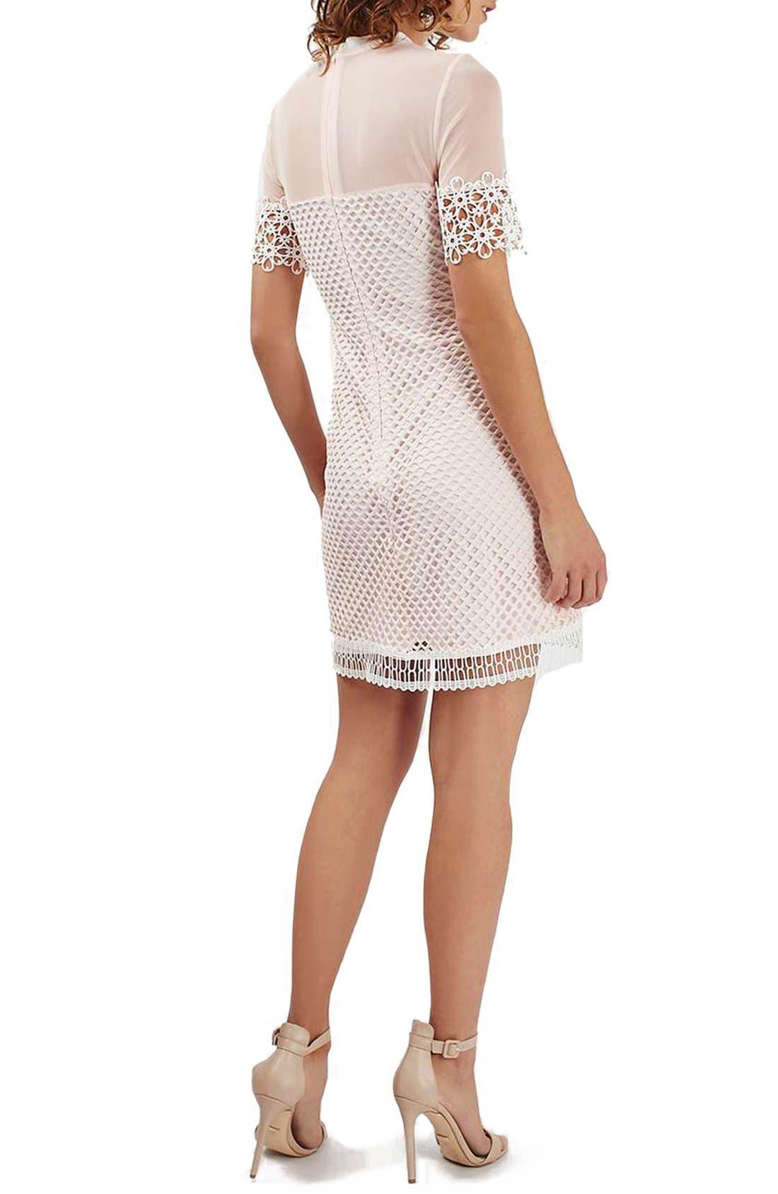 Alternate Image 2  - Topshop Mesh & Lace A-Line Dress