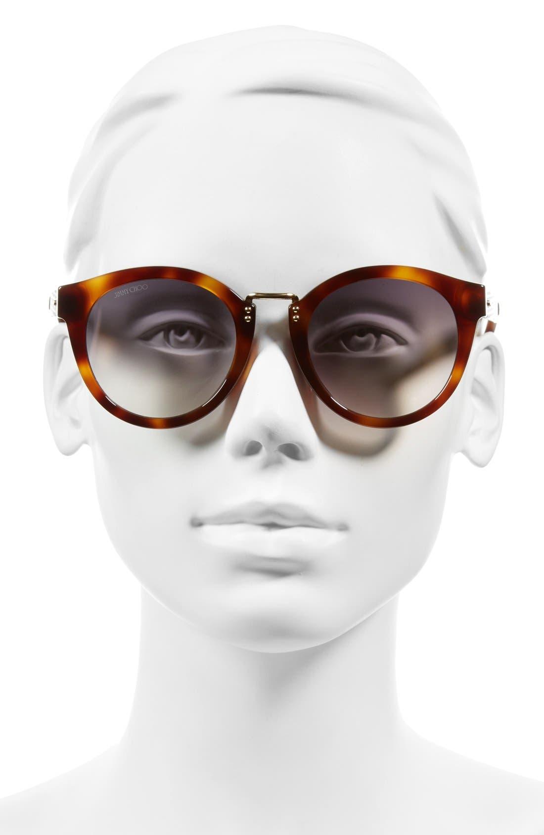 Alternate Image 2  - Jimmy Choo 'Pepys' 50mm Retro Sunglasses