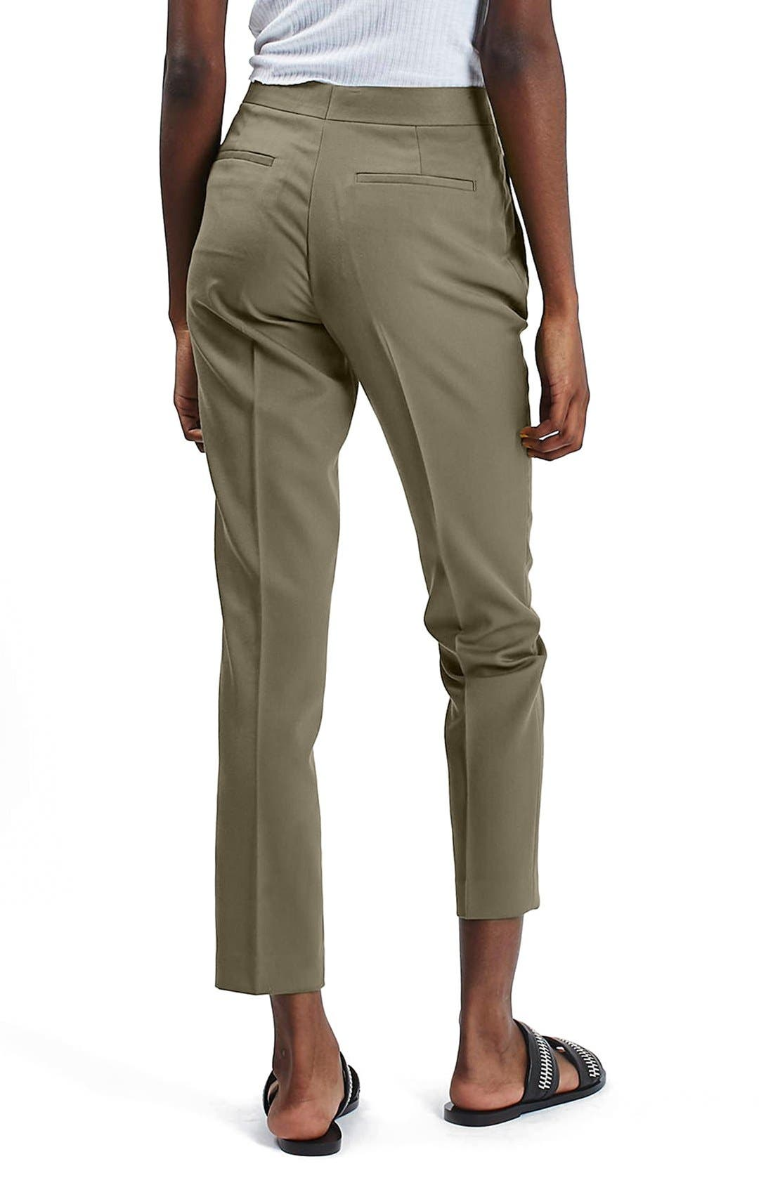 Alternate Image 3  - Topshop Crop Fitted Trousers